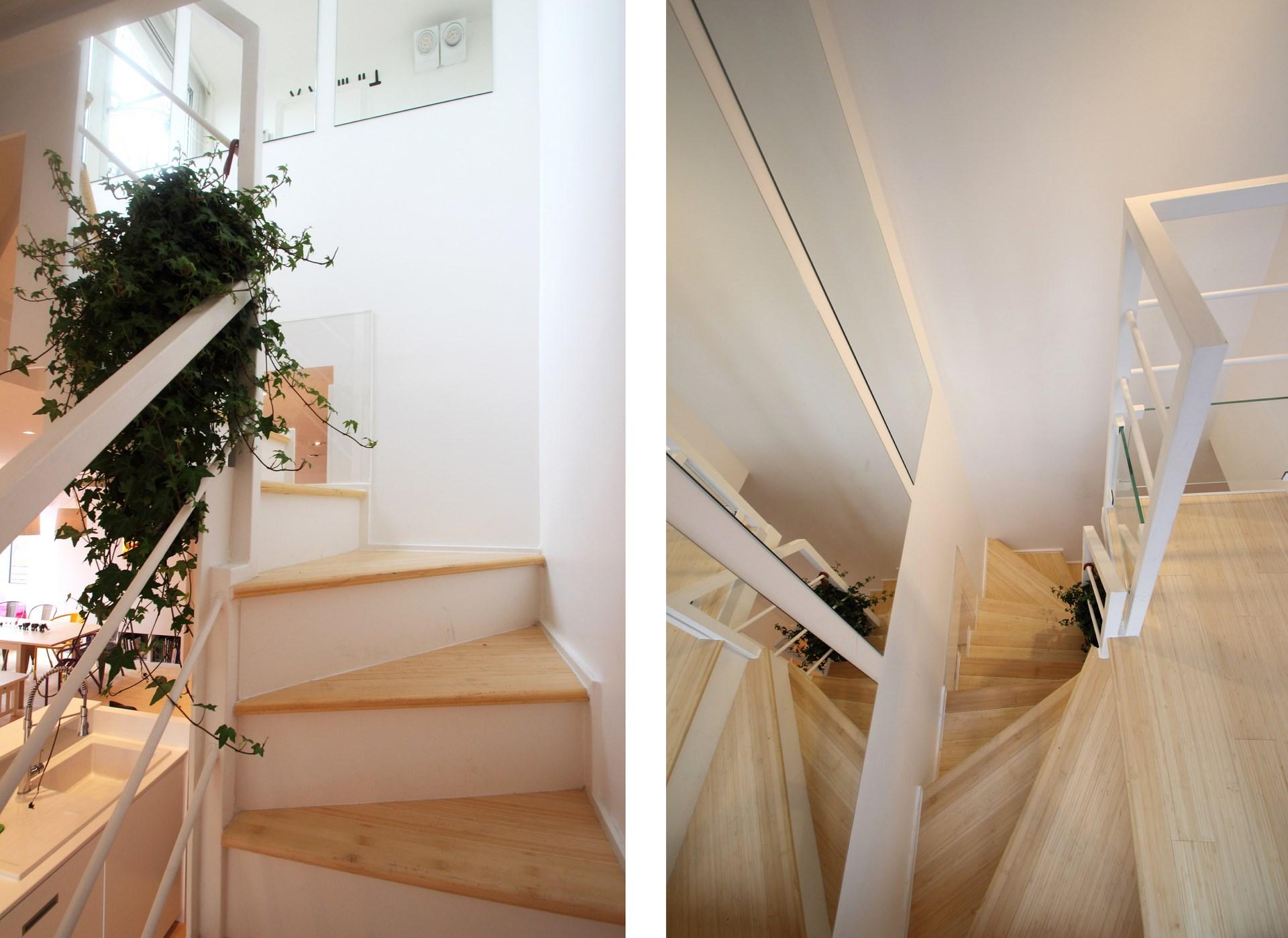 appartement avec terrasse escalier metal agence avous