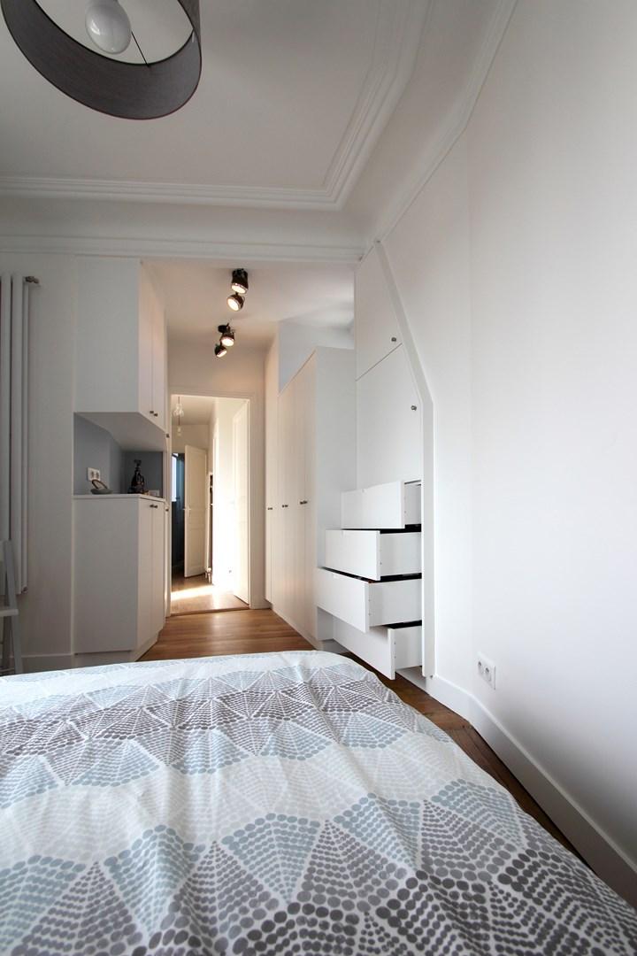appartement familiale chambre parentale dressing bleu gris tiroir agence avous
