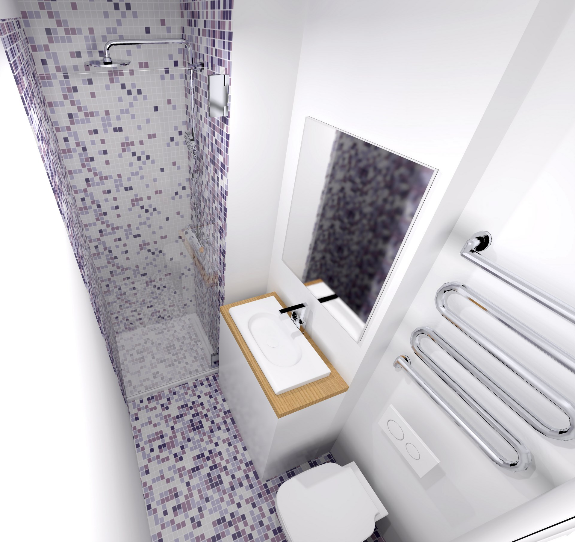 Appartement passage du grand cerf paris studio transform for Salle de bain optimisee