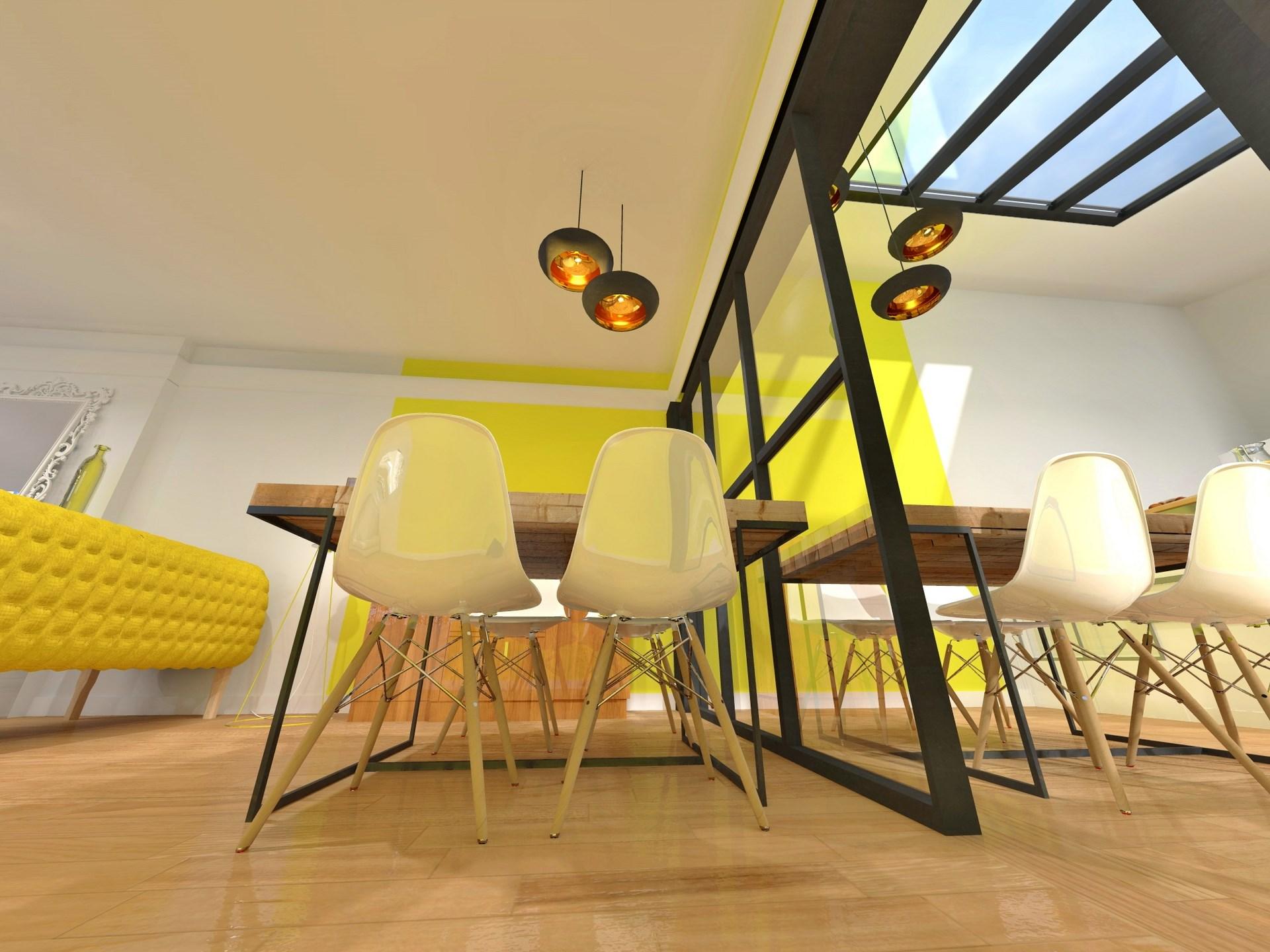 lumiere verriere metal industriel jaune toiture agence avous