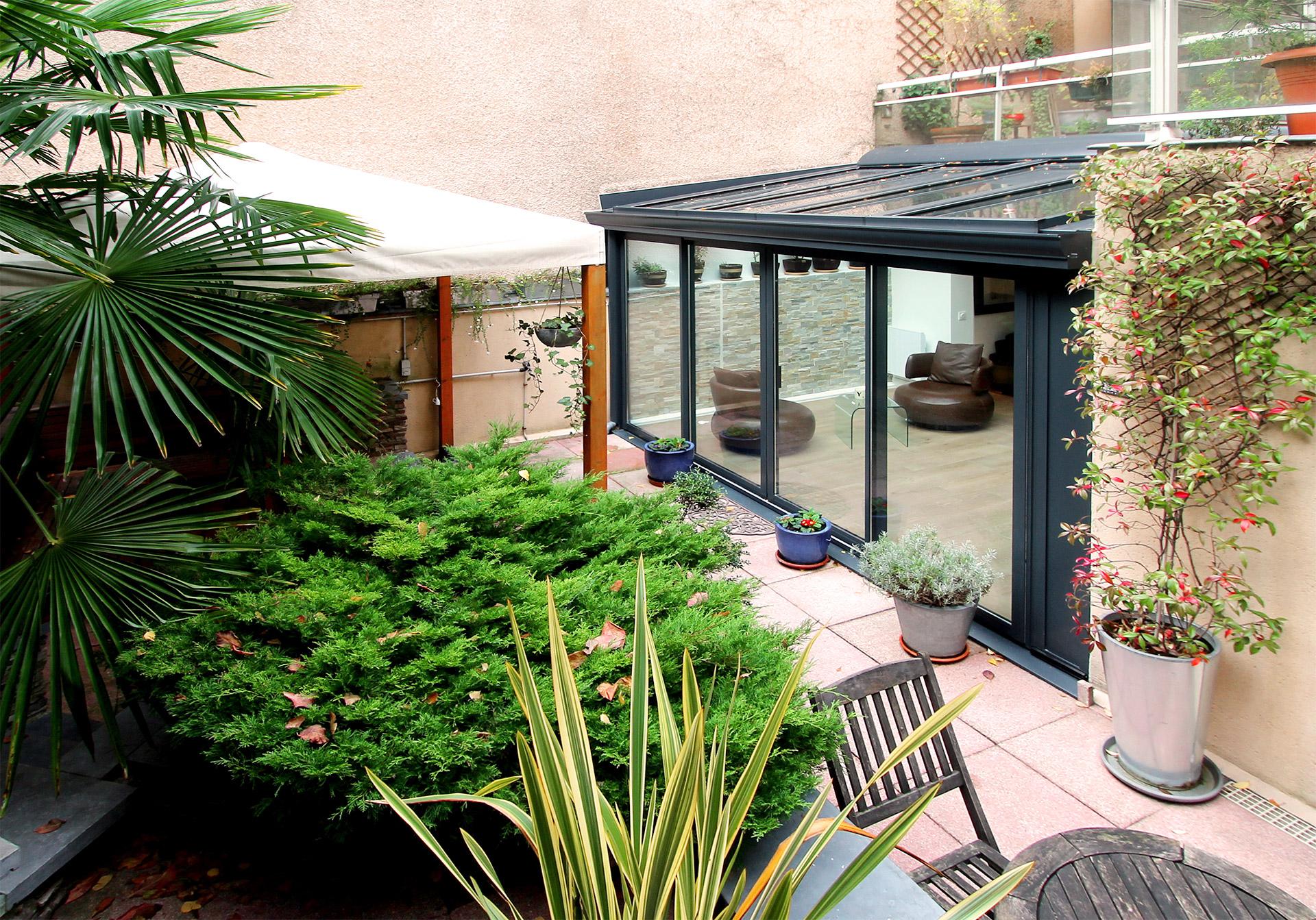 veranda Paris 19 jardin zen agence avous