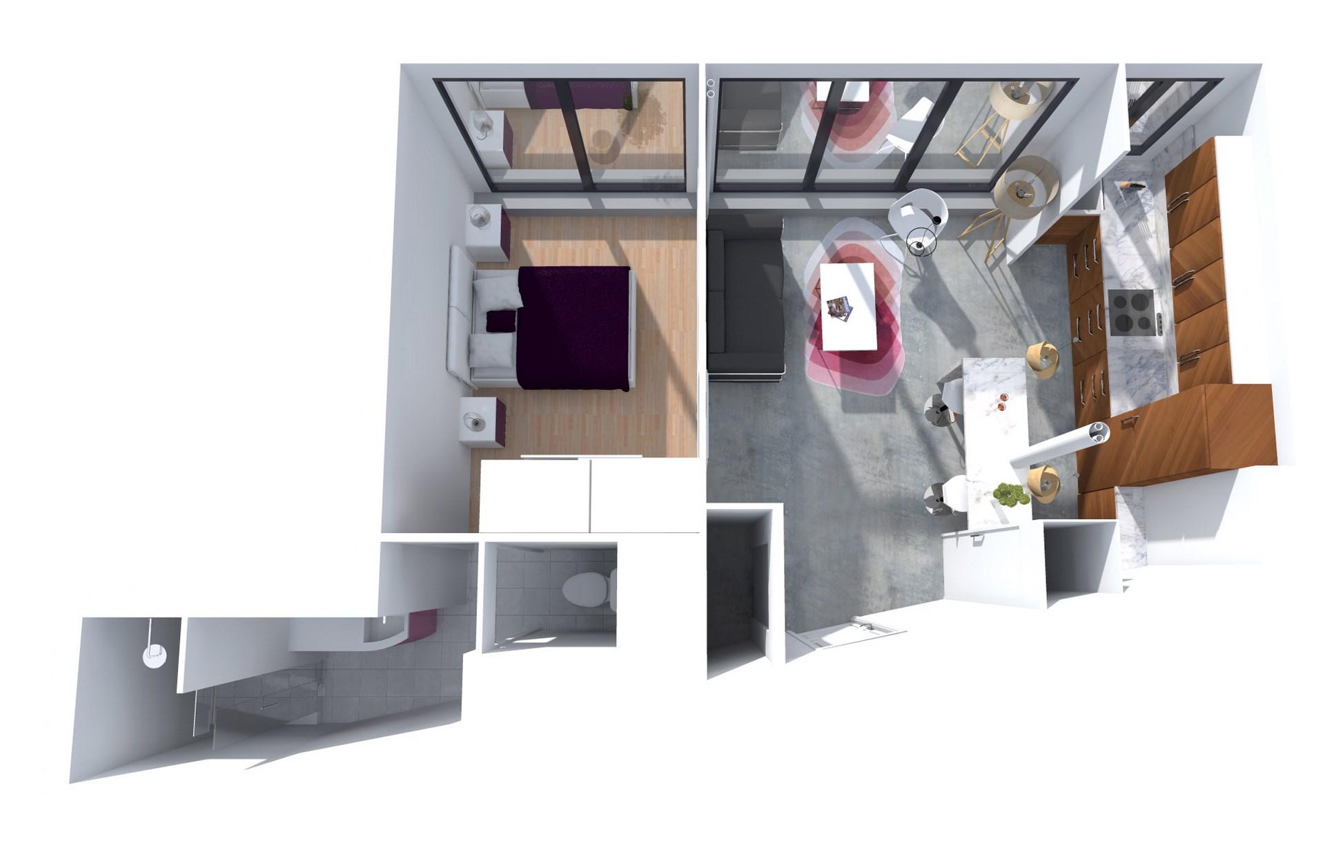 architecte interieur paris marbre bois mosaique renovation agence avous