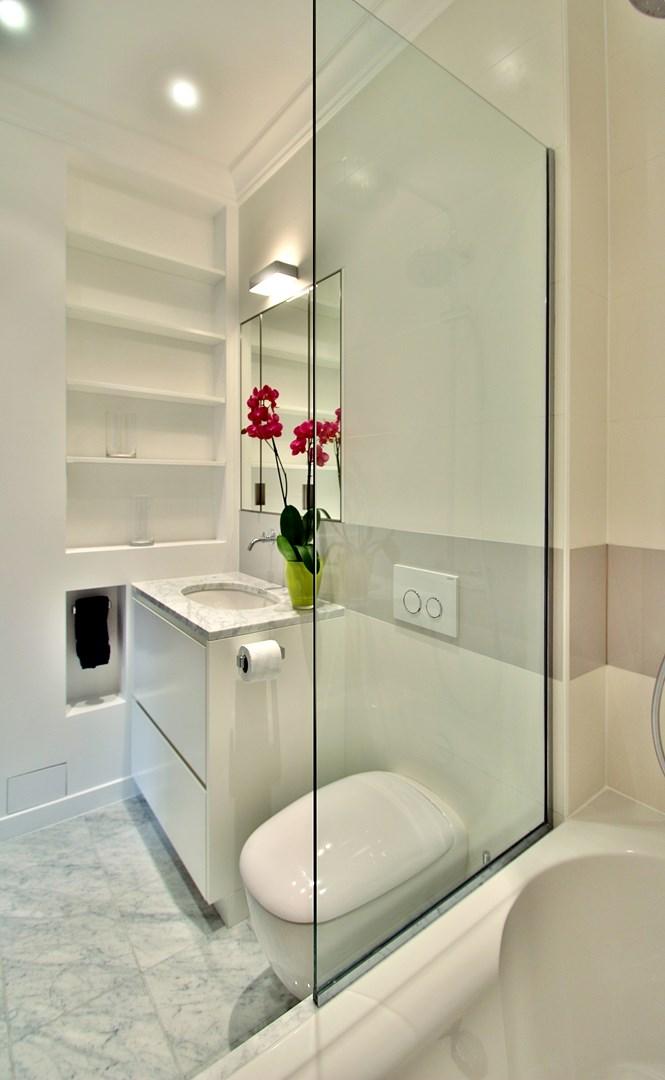 haussmannien marbre classique paroi de douche mobilier sur mesure agence avous