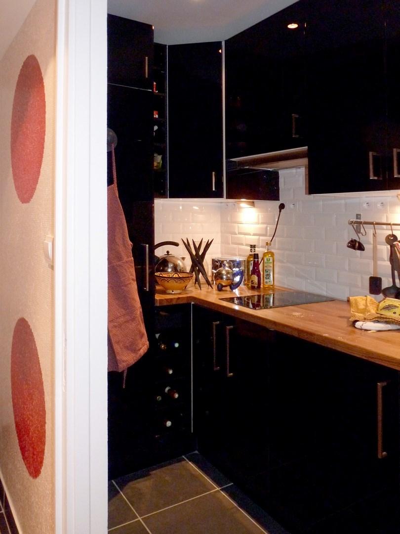 renovation 2 pieces cuisine ikea noir agence avous