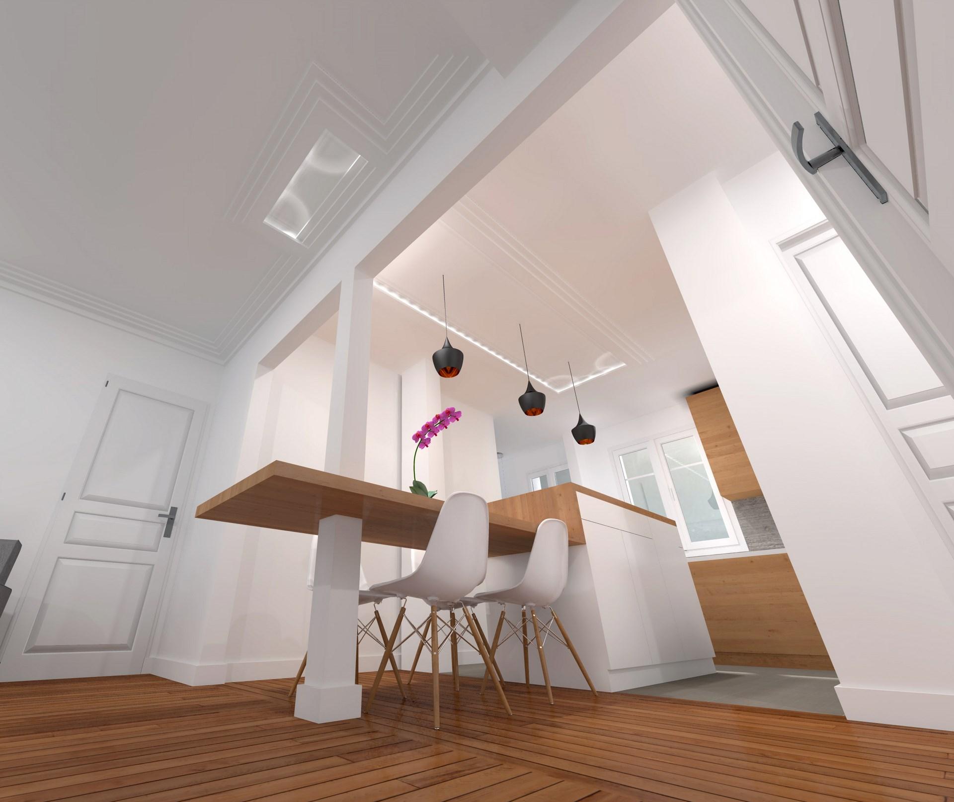 Rénovation art déco appartement parisien boulevards des marechaux