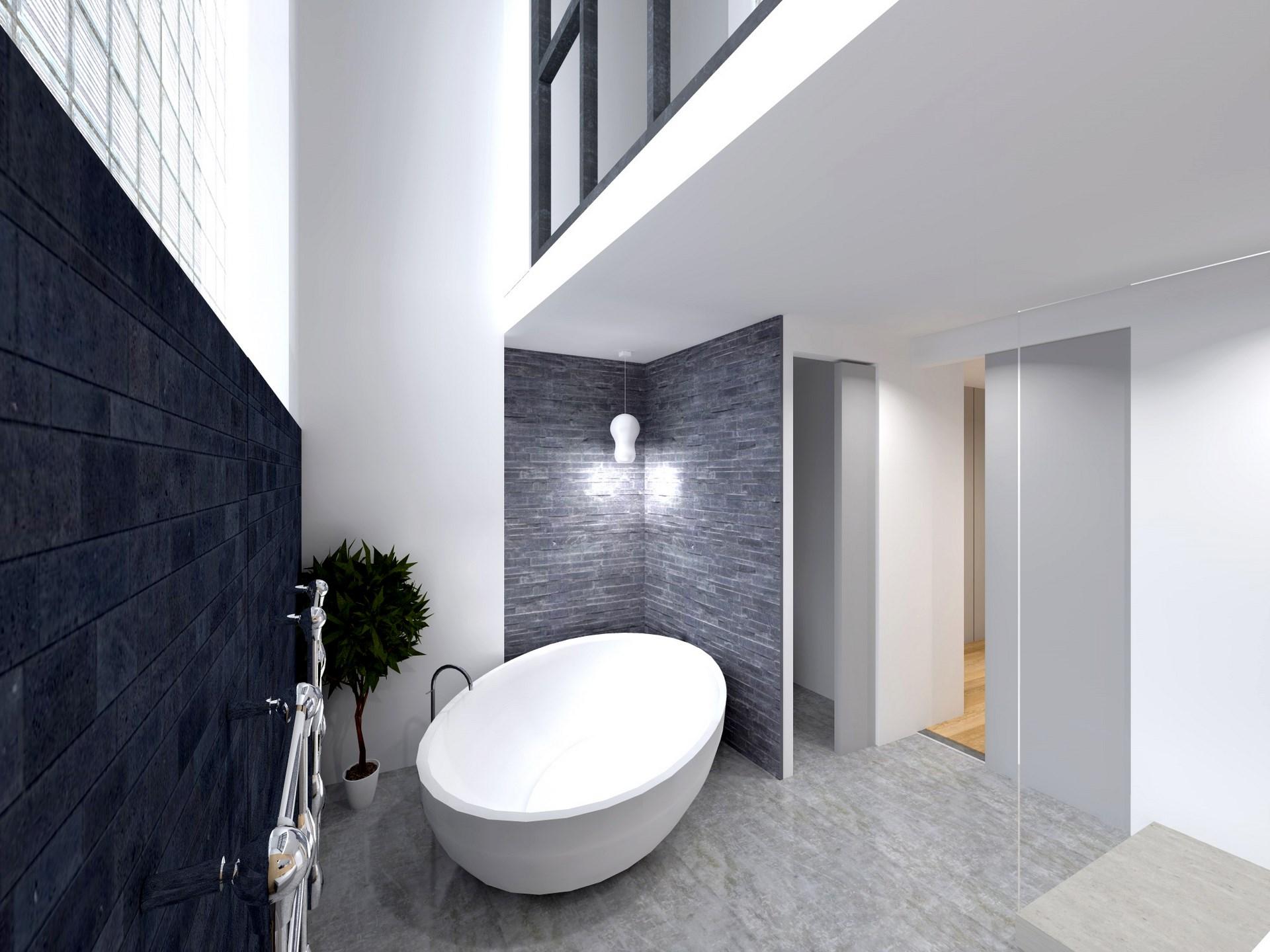 Baignoire ilot loft 2 baignoire lot ovale x cm composite for Baignoire carree encastrable