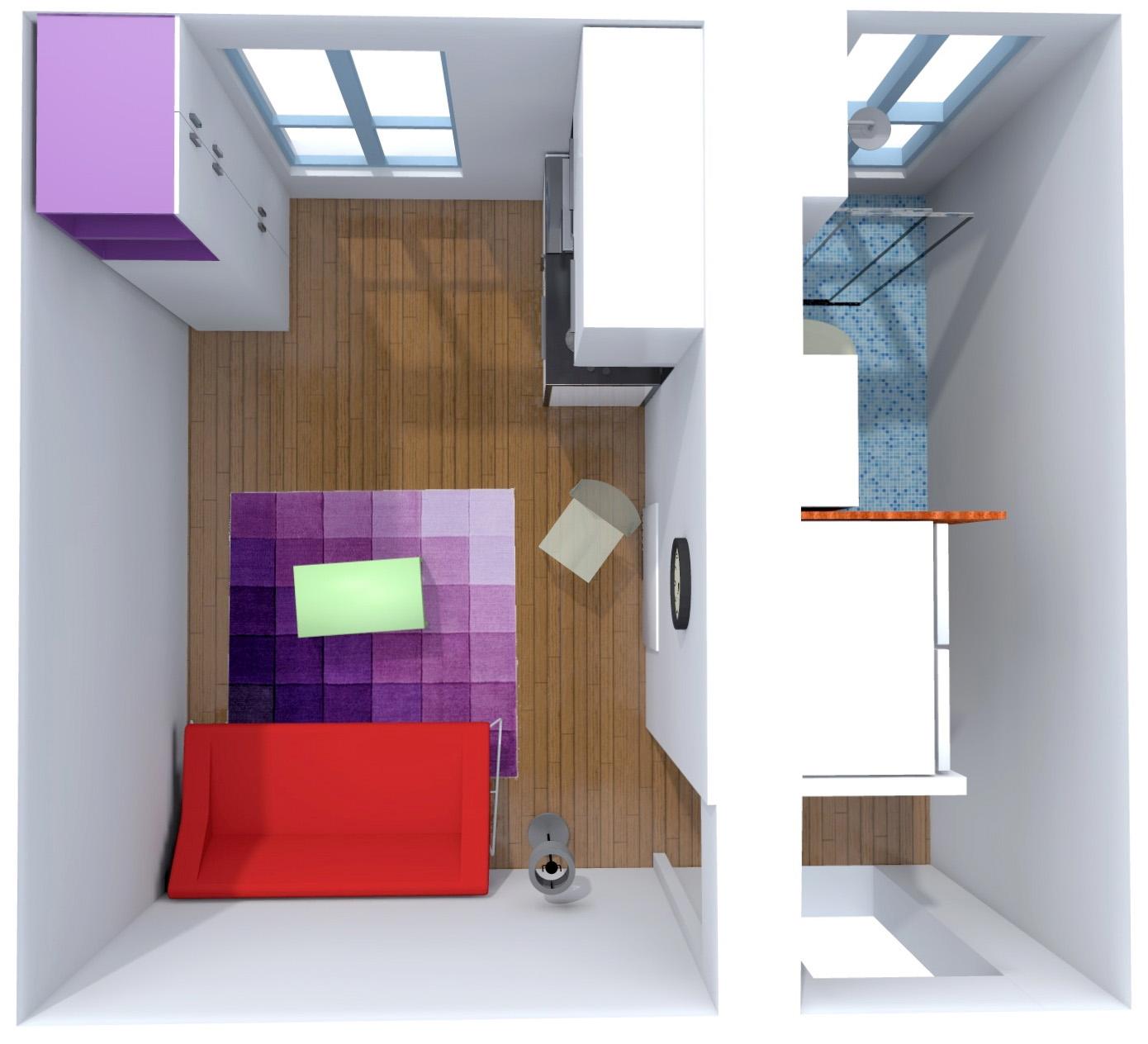 Studio fonctionnel 17 m2 rénové et réorganisé agence Avous paris