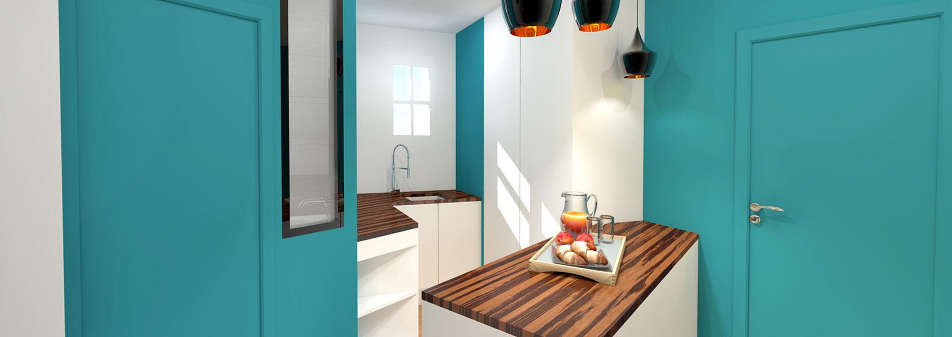 am nagement gain de place suppression couloir pour cuisine petit appartement. Black Bedroom Furniture Sets. Home Design Ideas