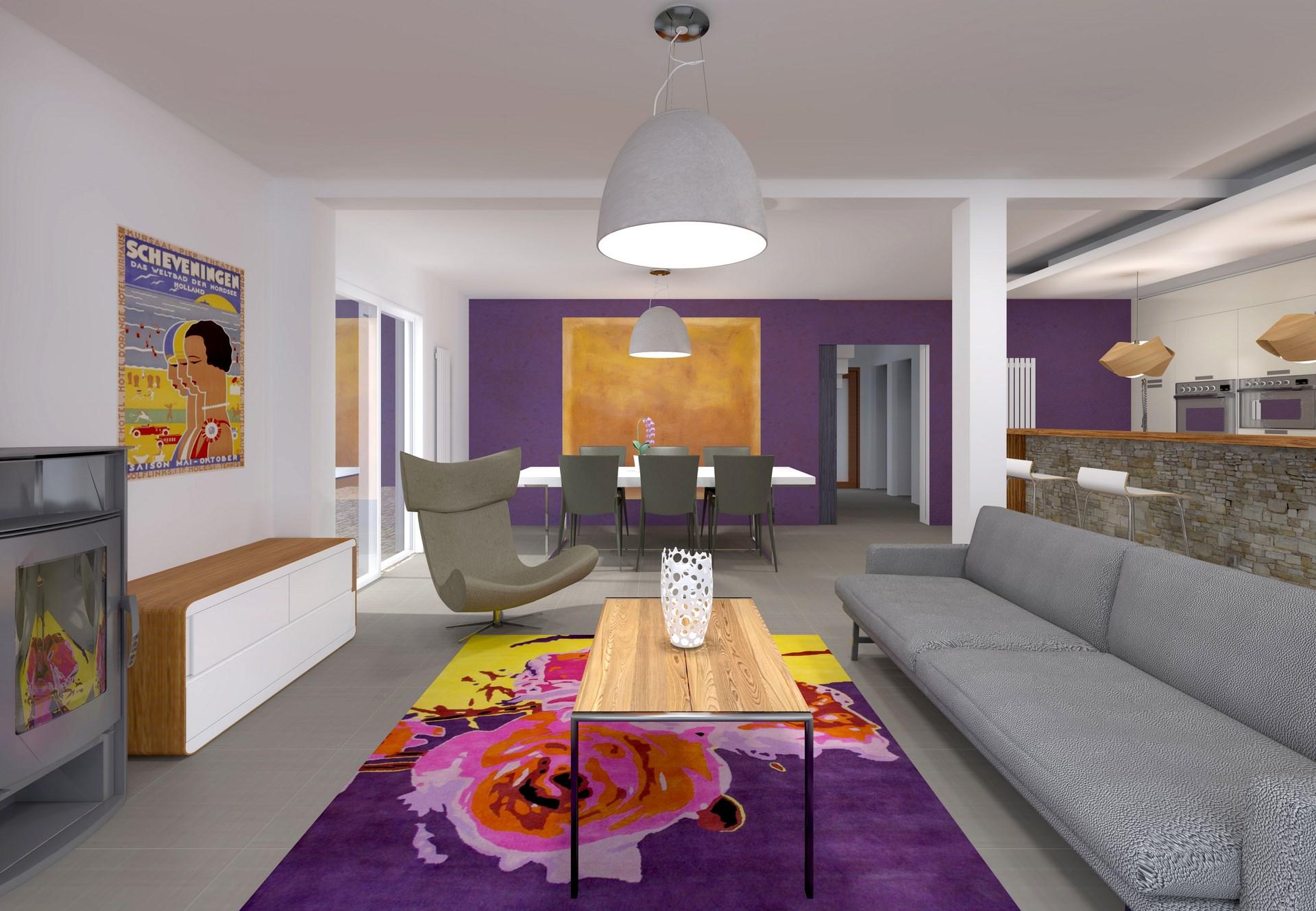 r am agement pavillon banlieue rez de chauss e ouvert sur jardin. Black Bedroom Furniture Sets. Home Design Ideas