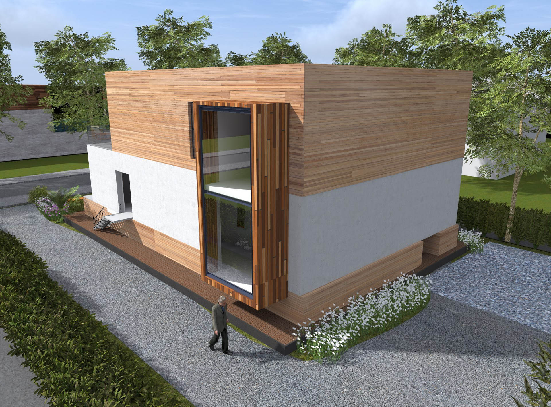 Habitation Contemporaine Sous Sol Semi Enterr Architecte