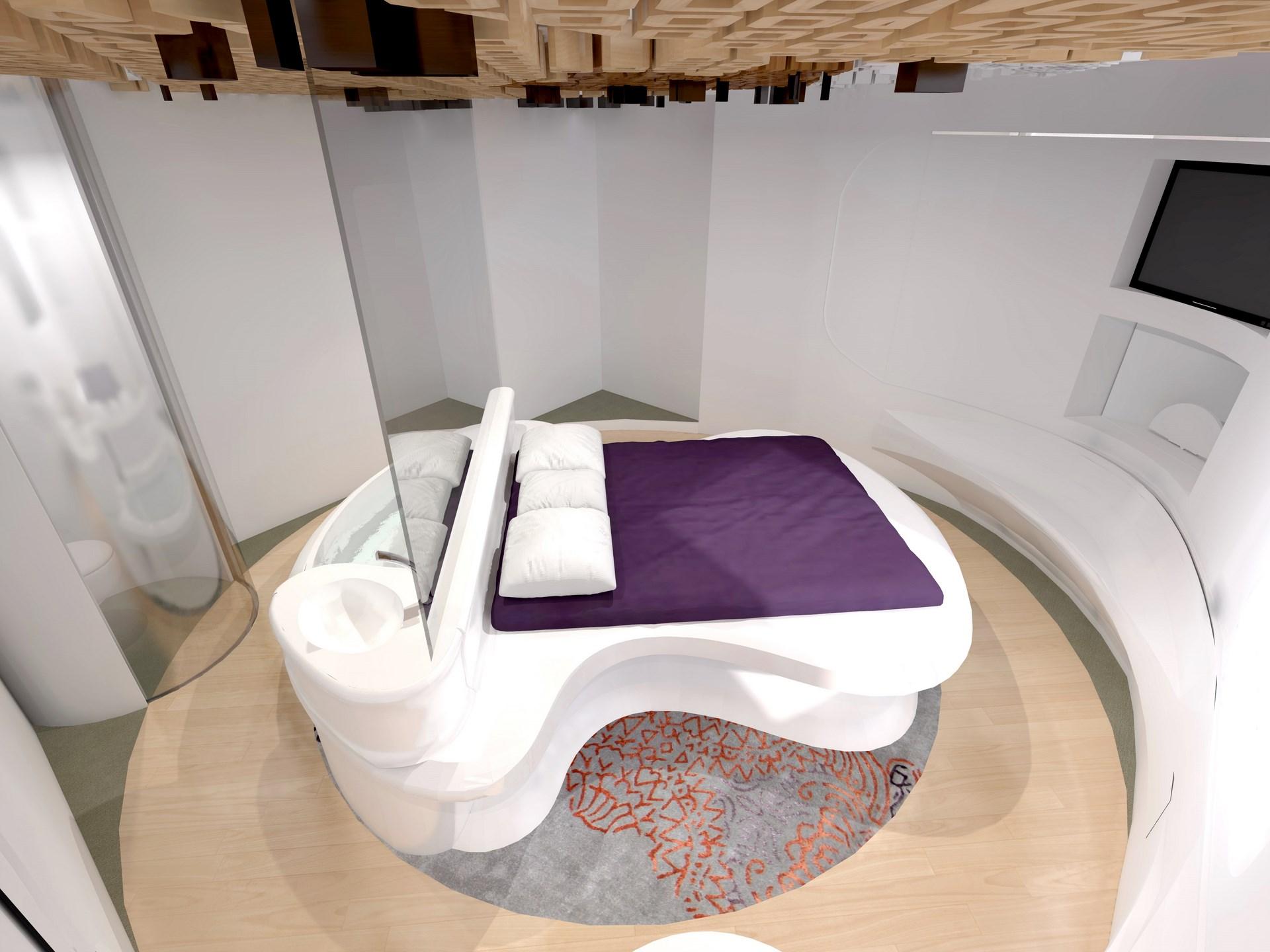 Chambre avec salle de bain ouverte et dressing for Hotel salle de bain ouverte