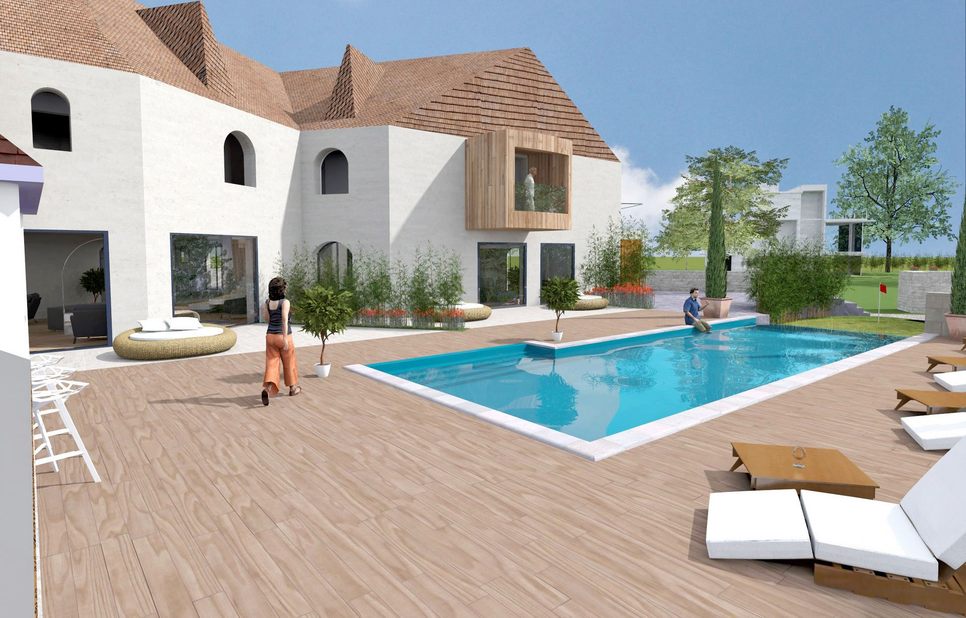 Piscine exterieur amenagement accueil design et mobilier for Photo amenagement piscine
