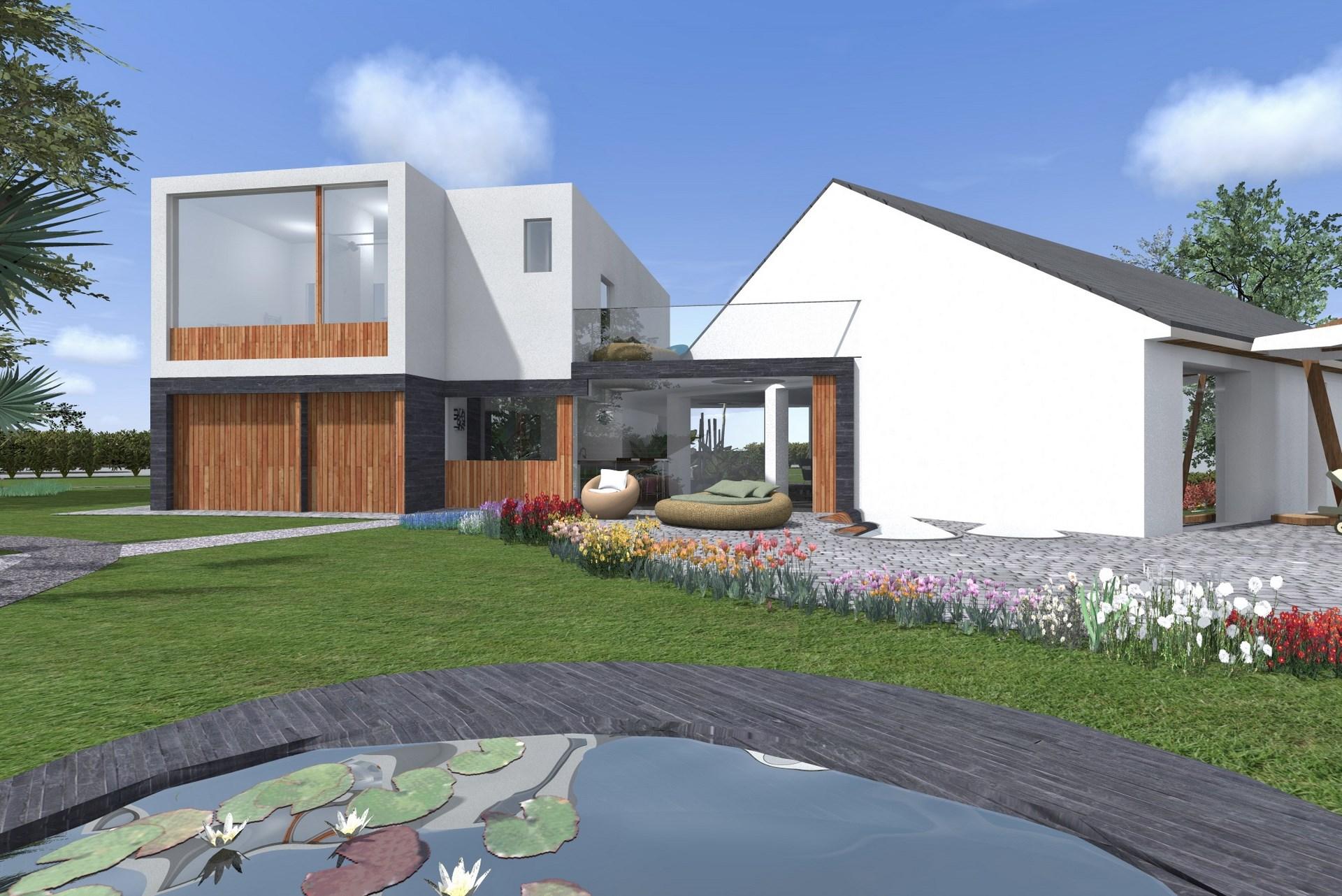 extension contemporain toiture terrasse bardage bois agence avous