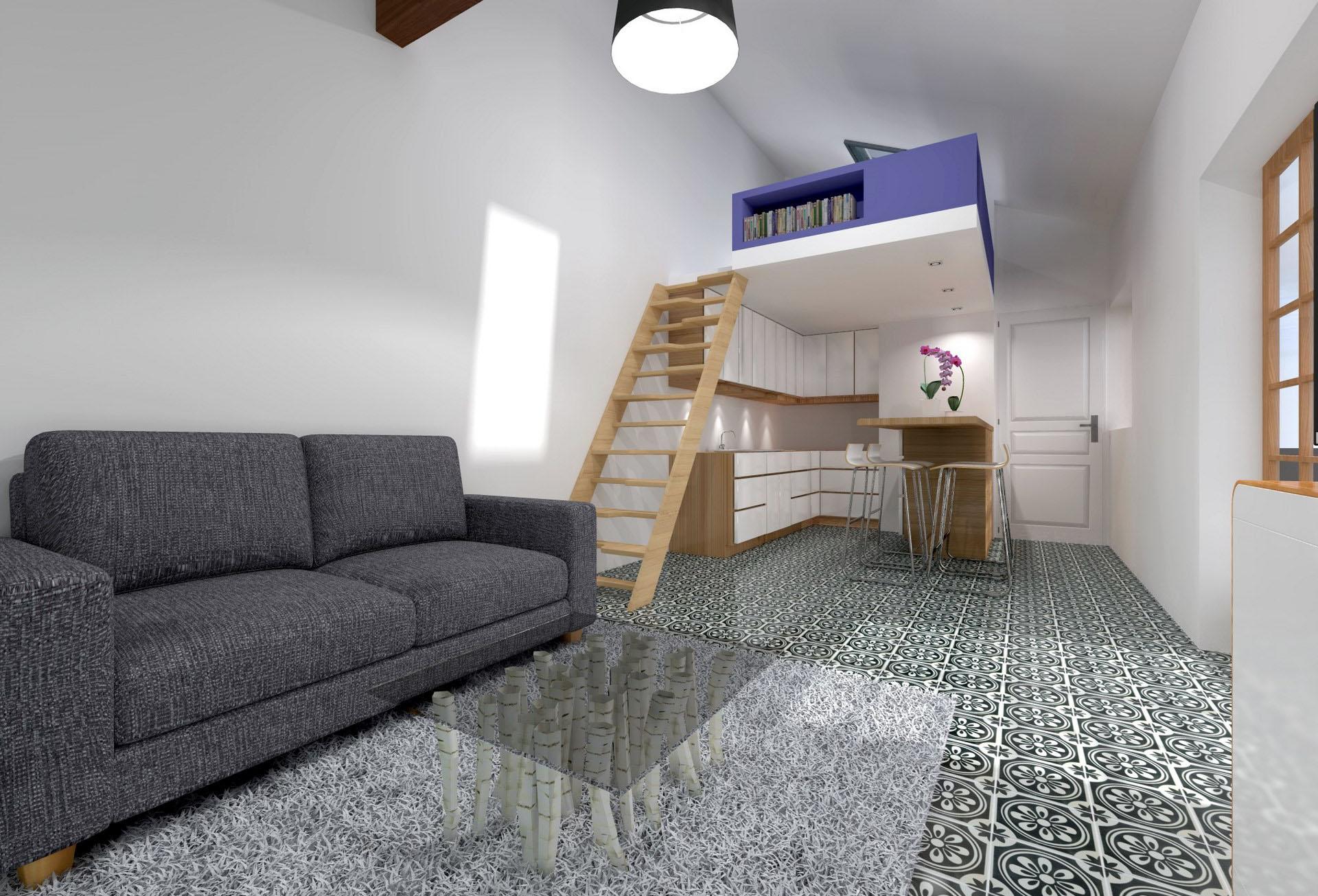 Transformer atelier de bricolage en studio ind pendant - Chambre fille mezzanine ...