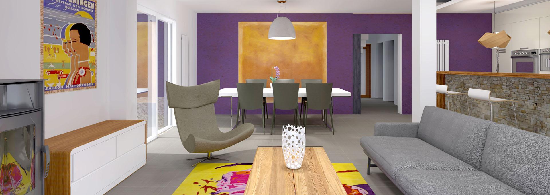 amenagement salon mur couleur agence avous architecte paris
