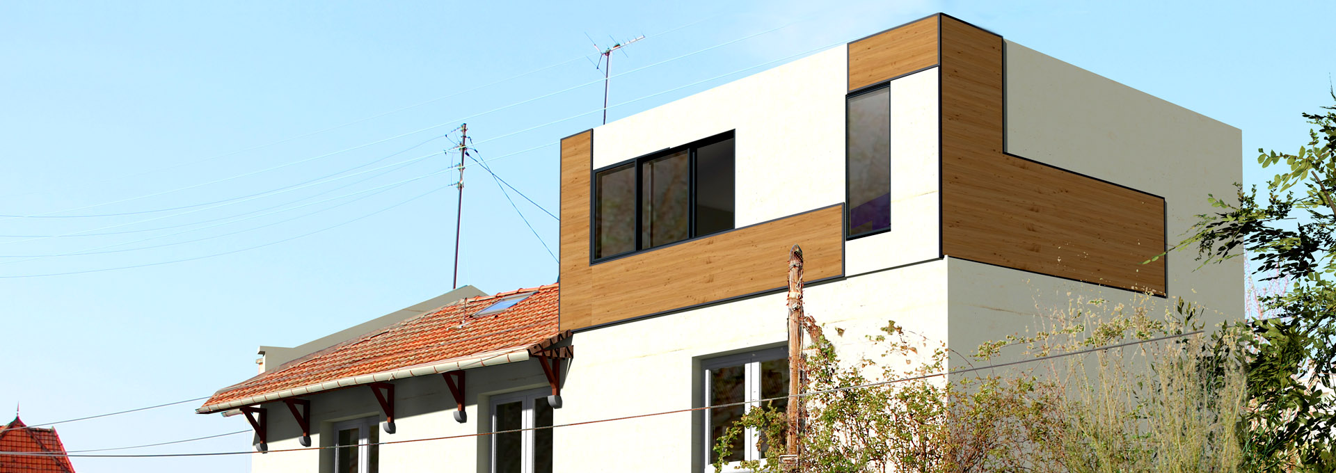r hausser combles extension terrasse v randa pavillon. Black Bedroom Furniture Sets. Home Design Ideas