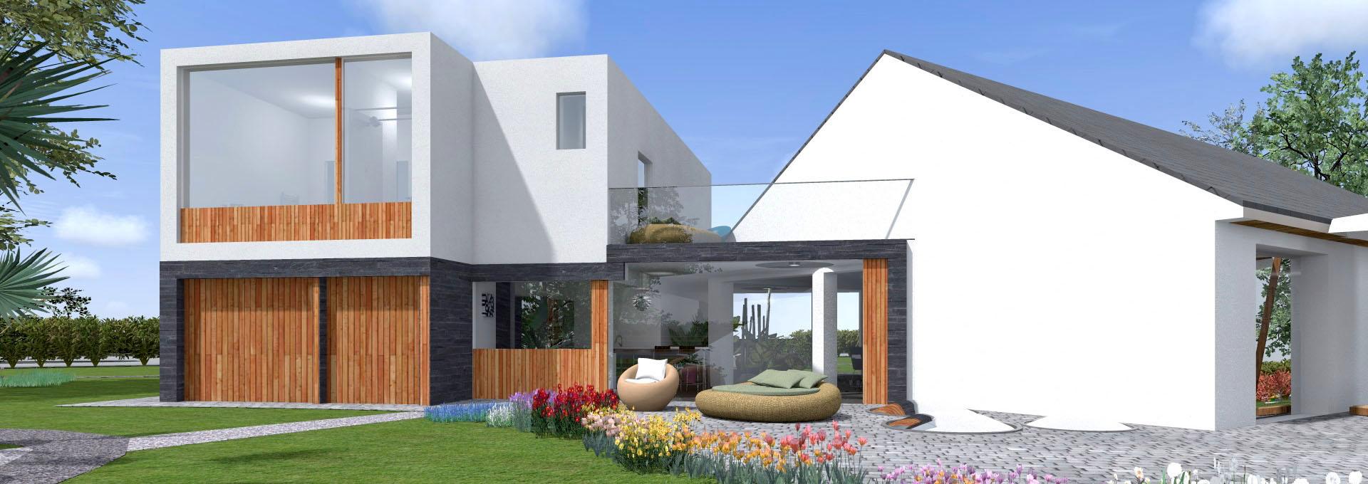 Extension contemporaine vignoble champenois architecte for Agence bois exterieur