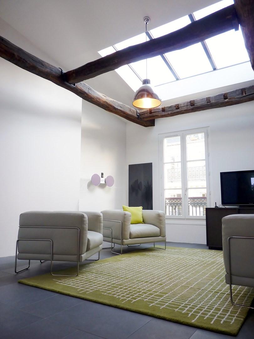 Decoration Veranda Salon : Aménagement appartement sous combles baigné de lumière paris