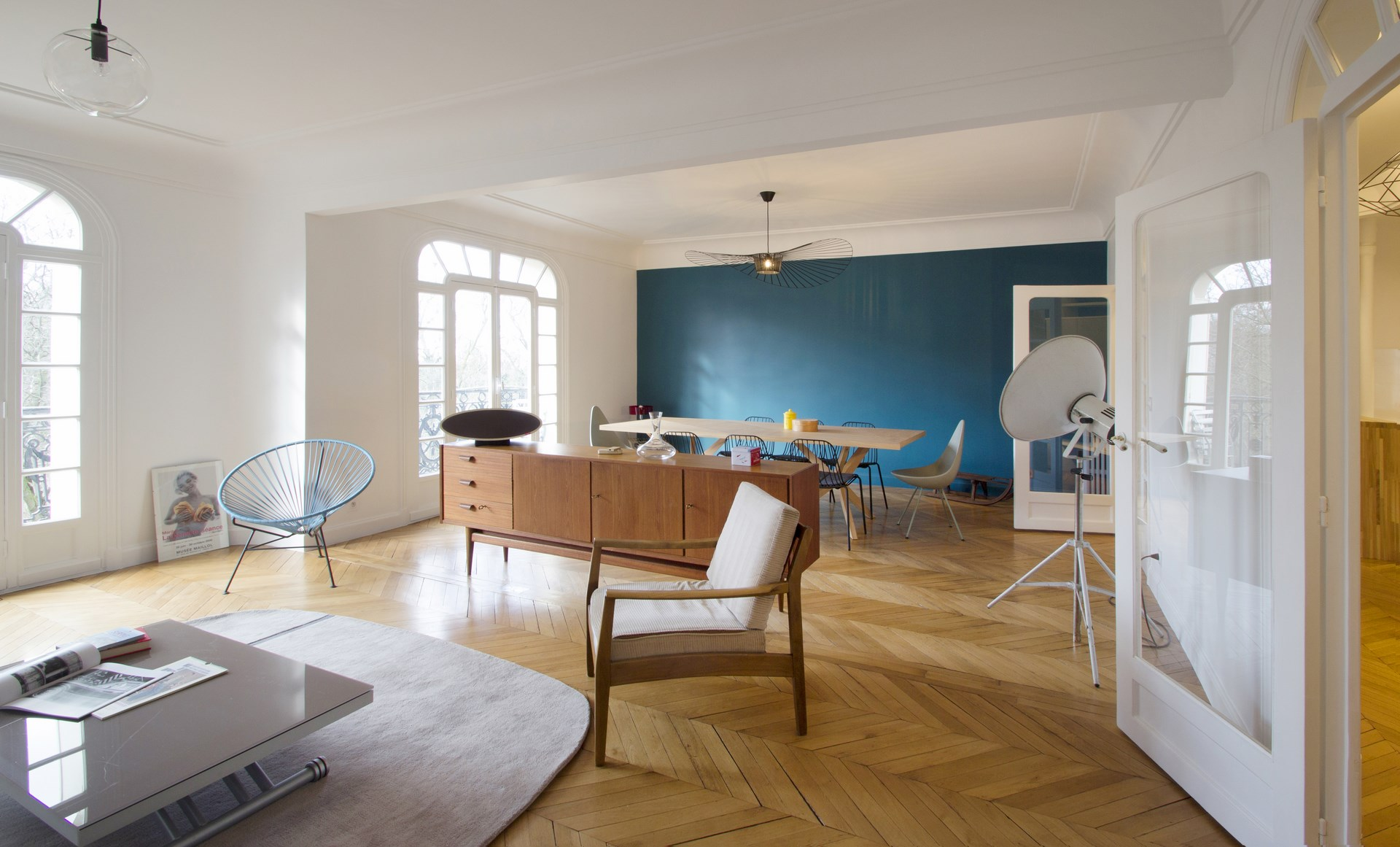 Salon design dans un appartement meilleures images d for Architecture nordique