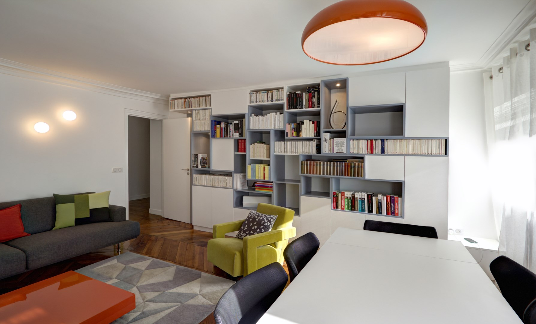 salon marocain moderne surmesure. Black Bedroom Furniture Sets. Home Design Ideas