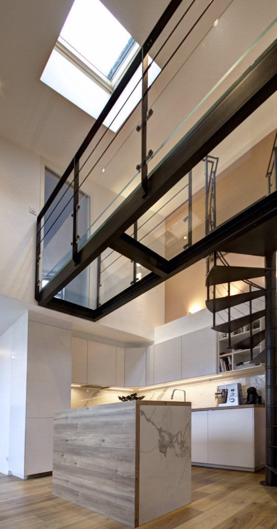 am nagement appartement vefa passerelle escalier colima on. Black Bedroom Furniture Sets. Home Design Ideas