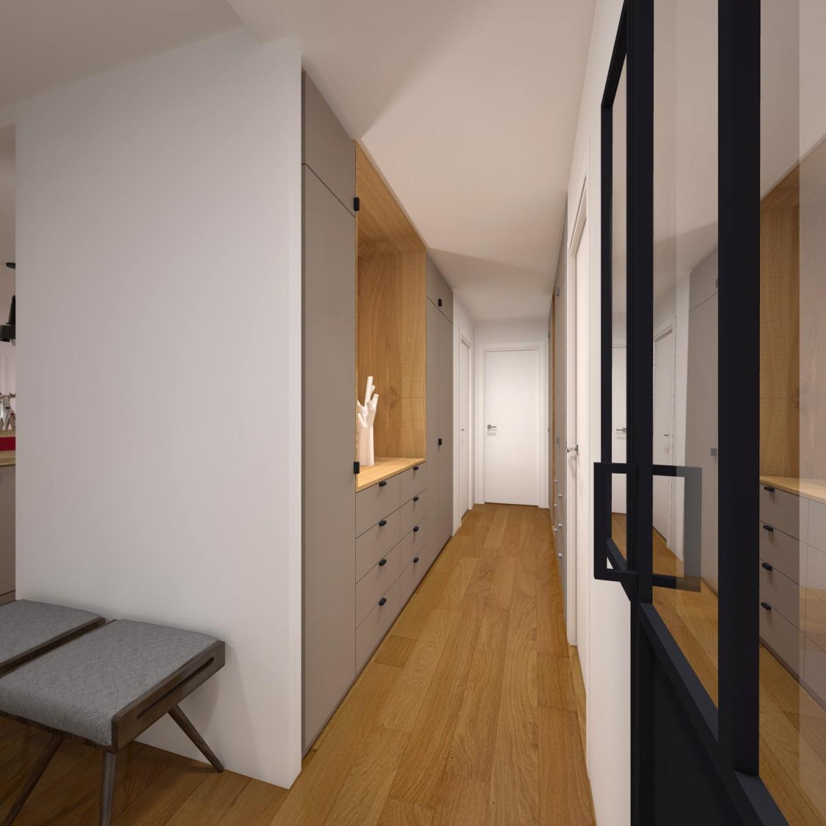 R novation loft avec carreaux ciment chin brique ancienne for Agence loft paris