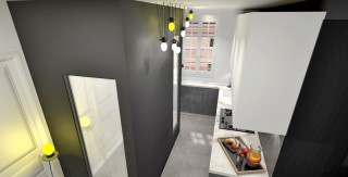 amenagement salon mur couleur agence avous architecte paris