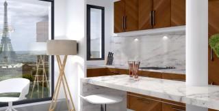 optimisation salle de bain noir blanc monochrome agence avous