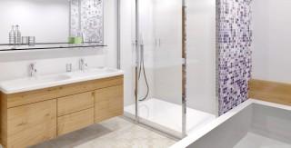 amenagement salle de bain baignoire douche mosaique agence avous