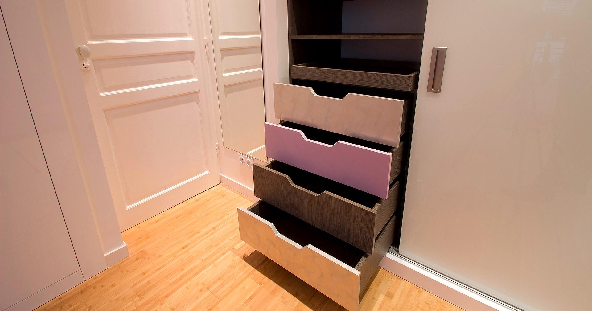 appartement mobilier sur mesure tiroirs agence avous