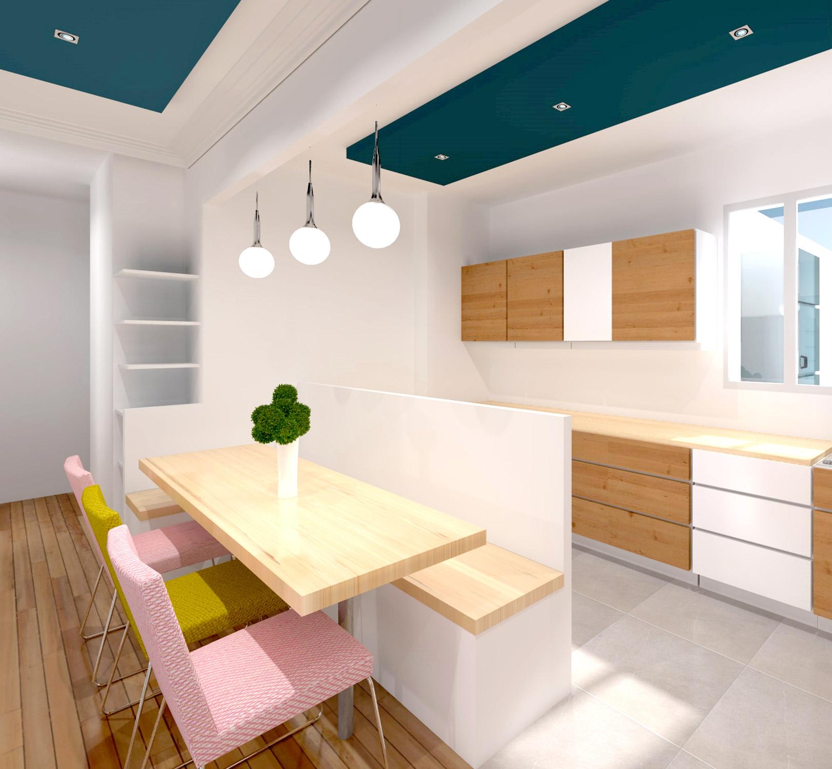 appartement art deco cuisine ouverte agence avous