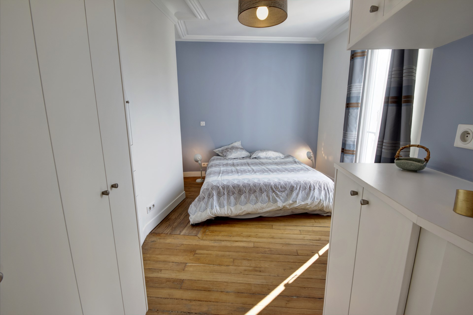 appartement familiale chambre parentale dressing bleu gris agence avous