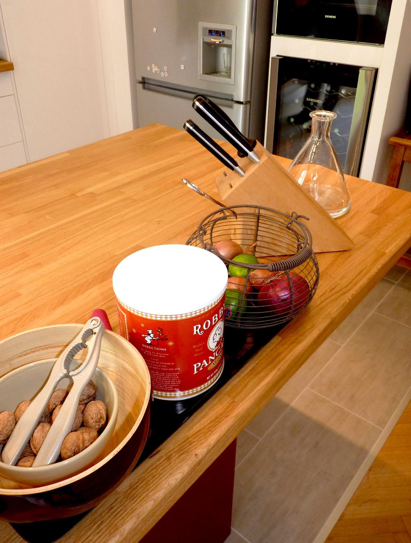 cuisine ouverte jardin plan bois agence avous
