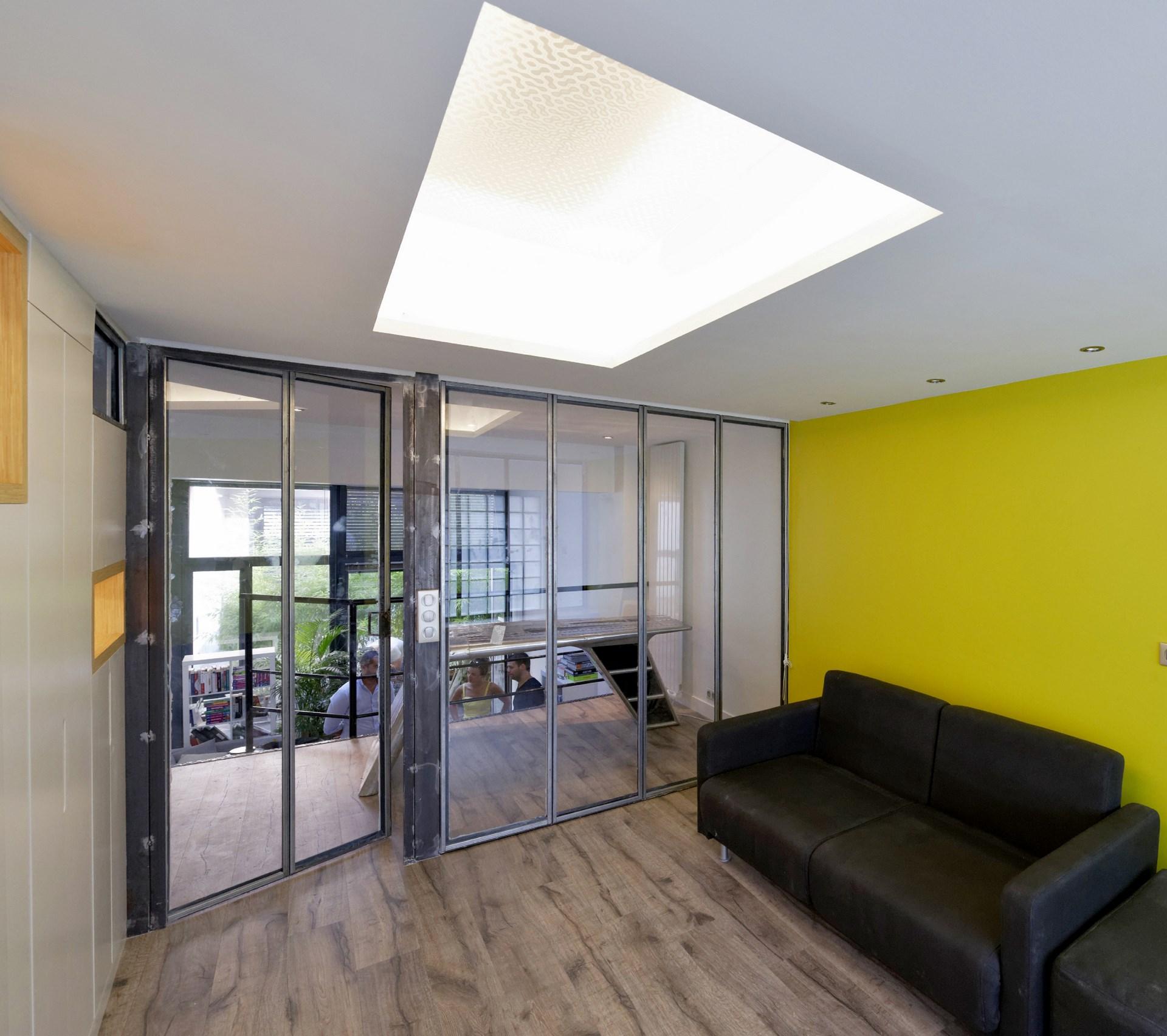 loft verriere industriel jaune