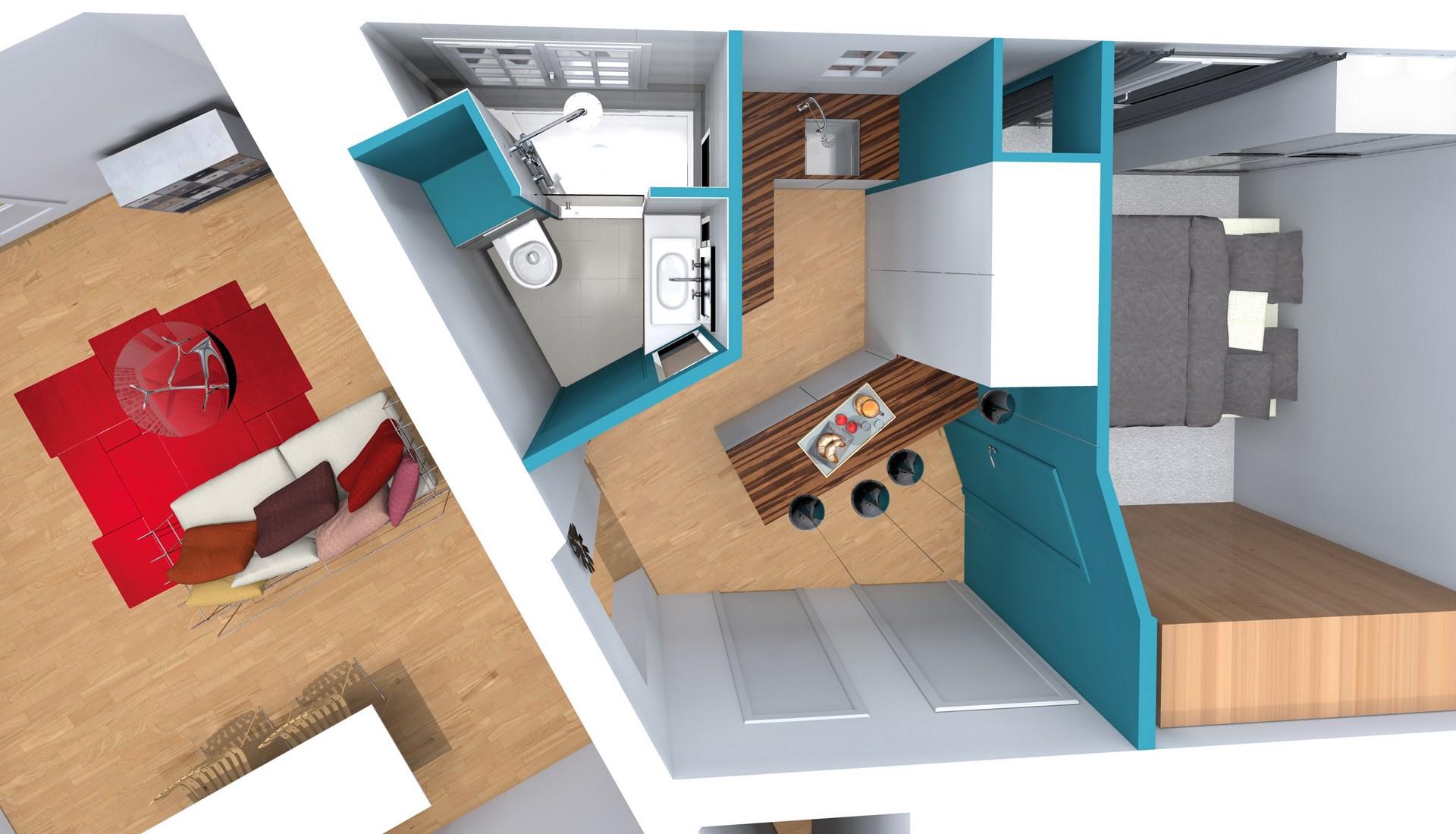 amenagement studio dressing bureau integre optimisation cuisine salle de bain annees agence avous