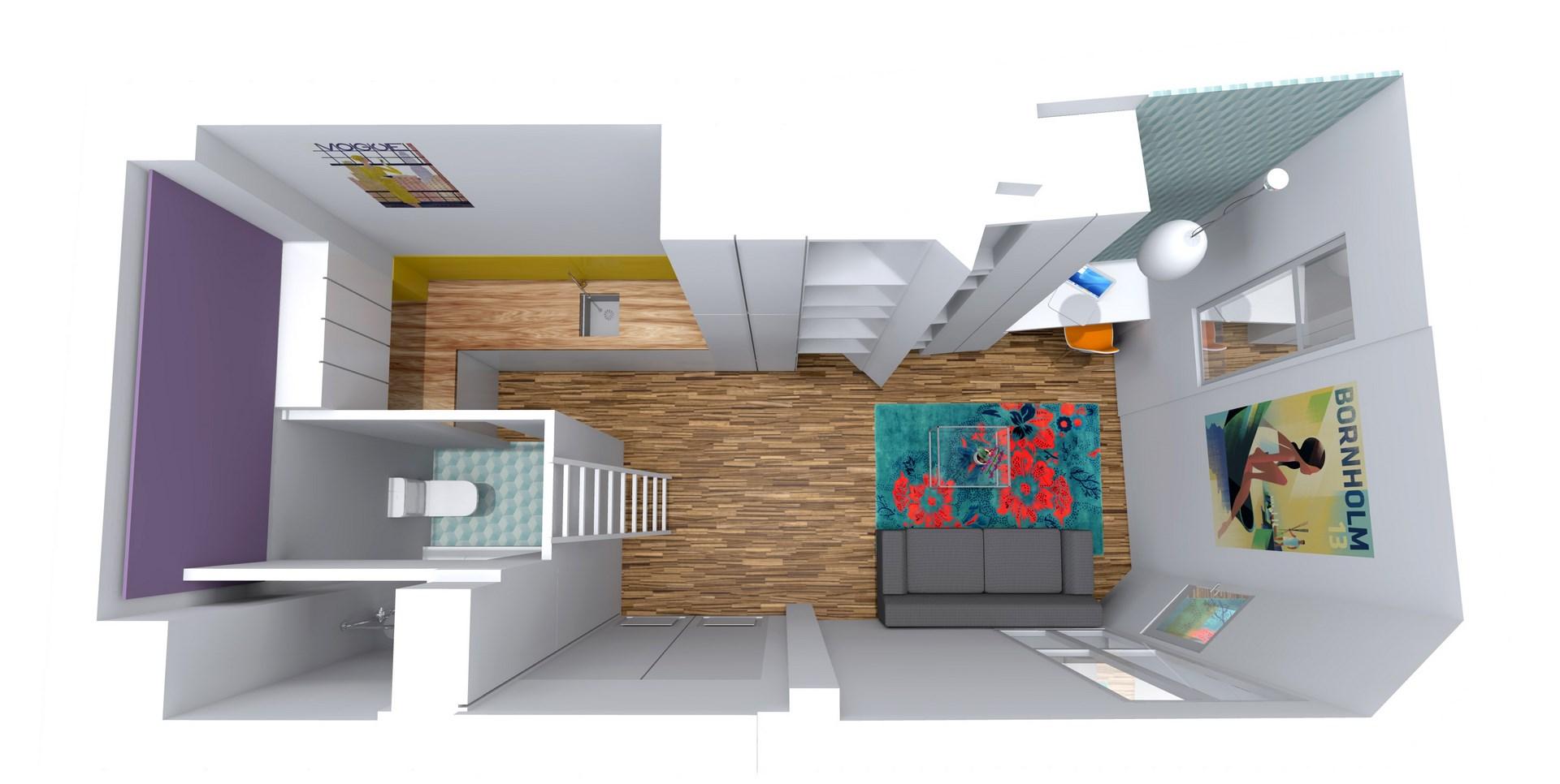 amenagement studio mezzanine dressing loge de gardien agence avous