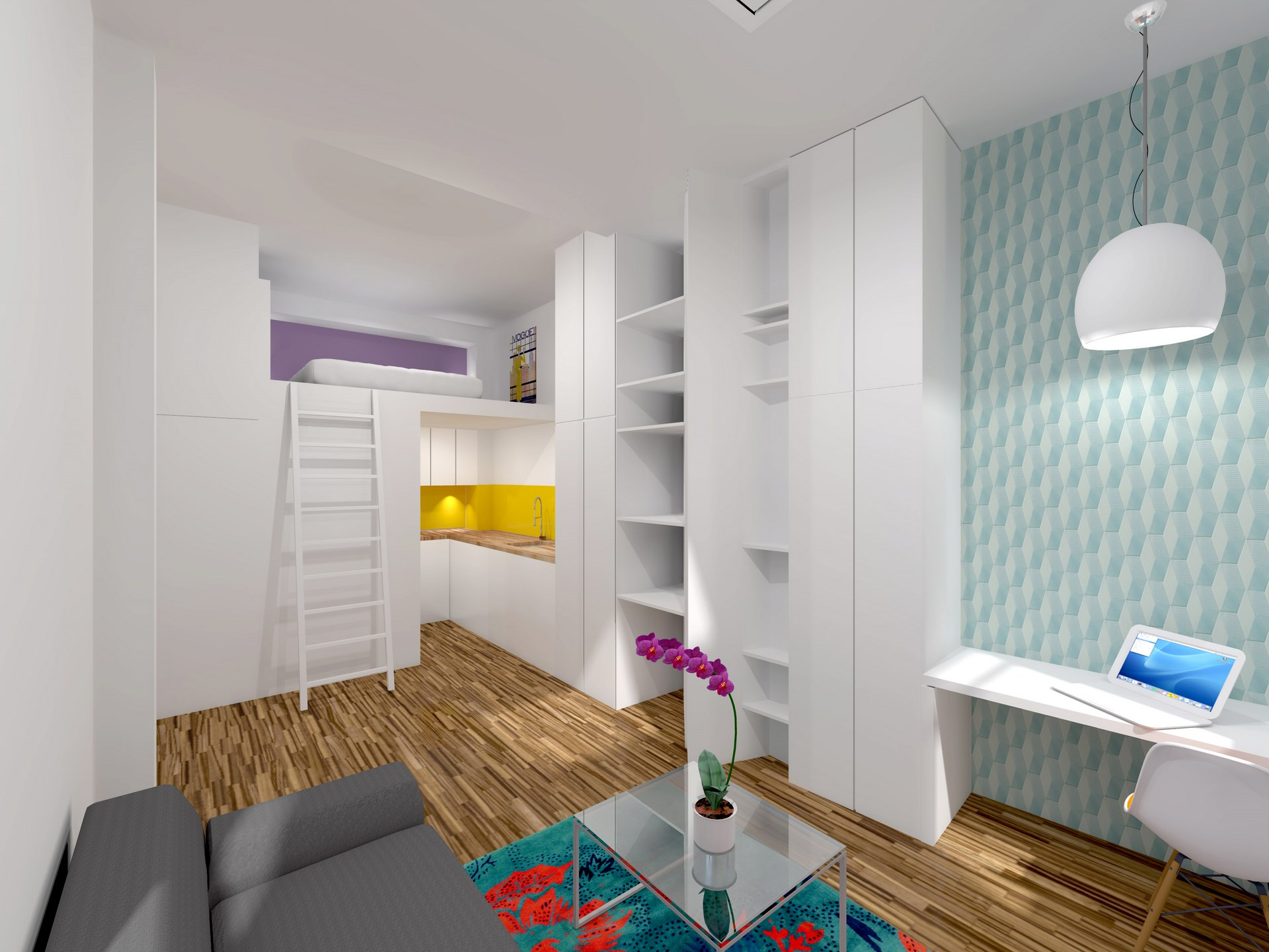 amenagement studio mezzanine dressing agence avous