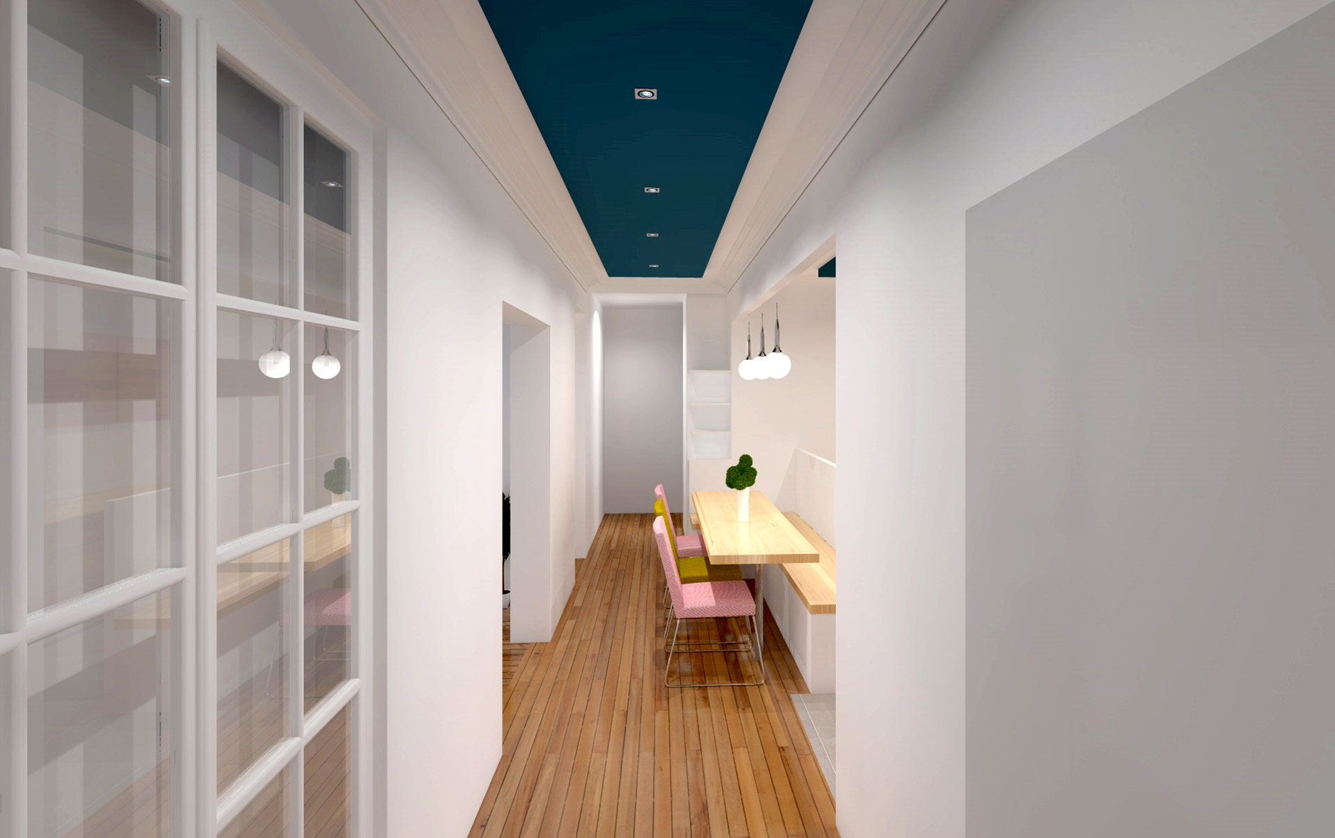 cuisine ouverte couloir agence avous