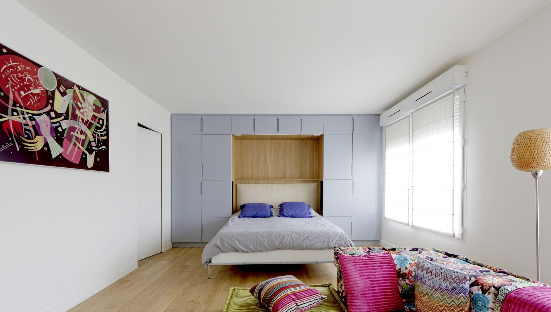 lit sur mesure rabattable meuble laque mat canape roche bobois mah jong agence avous