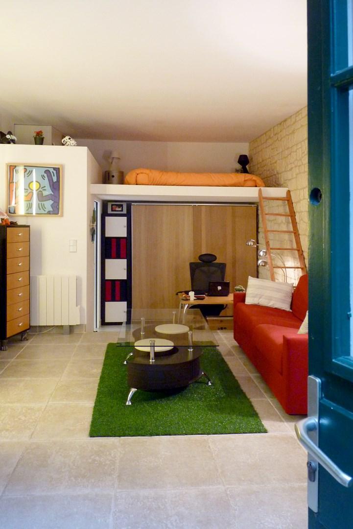 petits espaces studio ancien couvent lit mezzanine agence avous