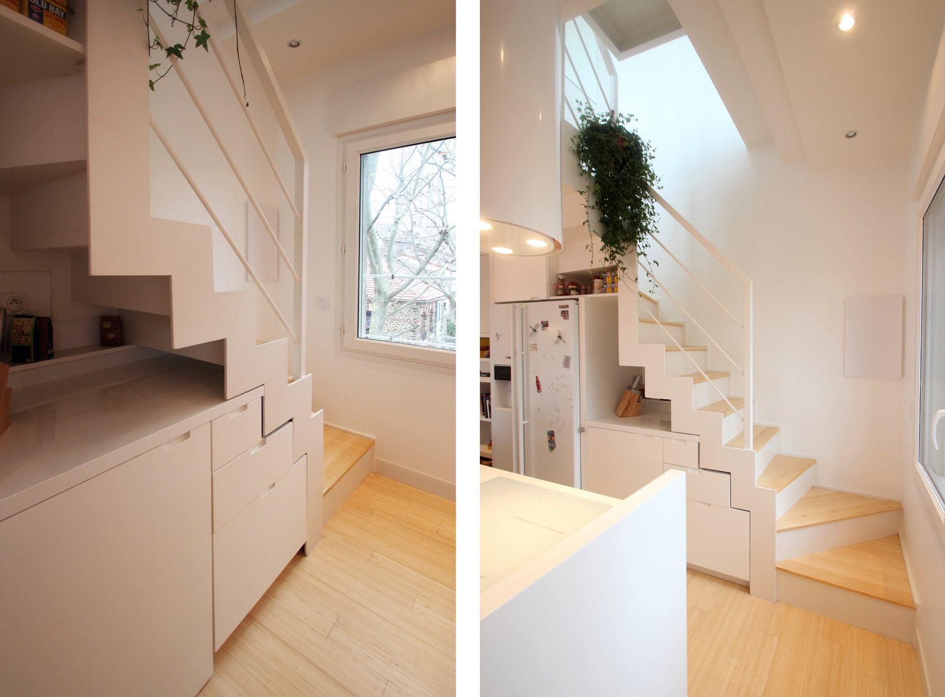 renovation appartement avec terrasse escalier metallique agence avous