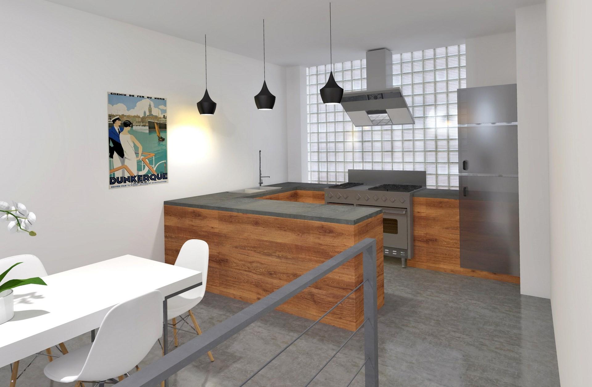cuisine design ouverte agence avous
