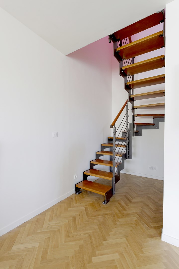 escalier sur mesure bois metal duplex agence avous