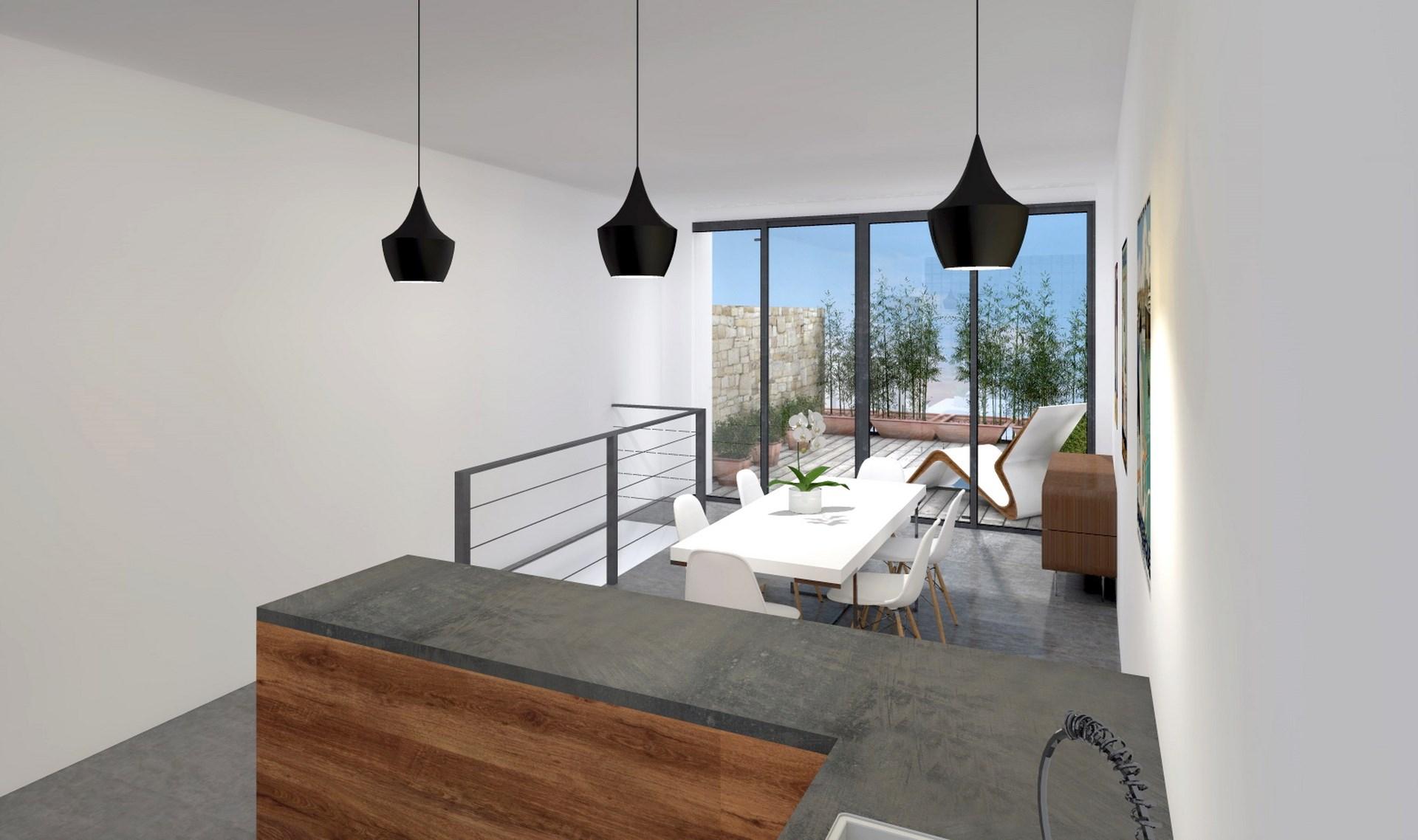 loft cuisine ouverte terrasse agence avous