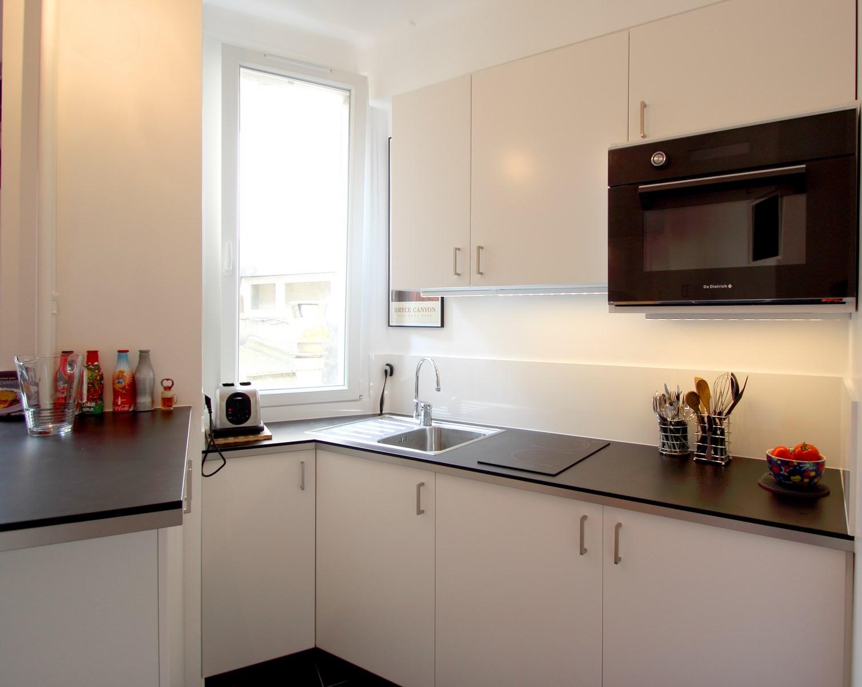 architecte paris studio cuisine ikea noir blanc sur mesure agence avous
