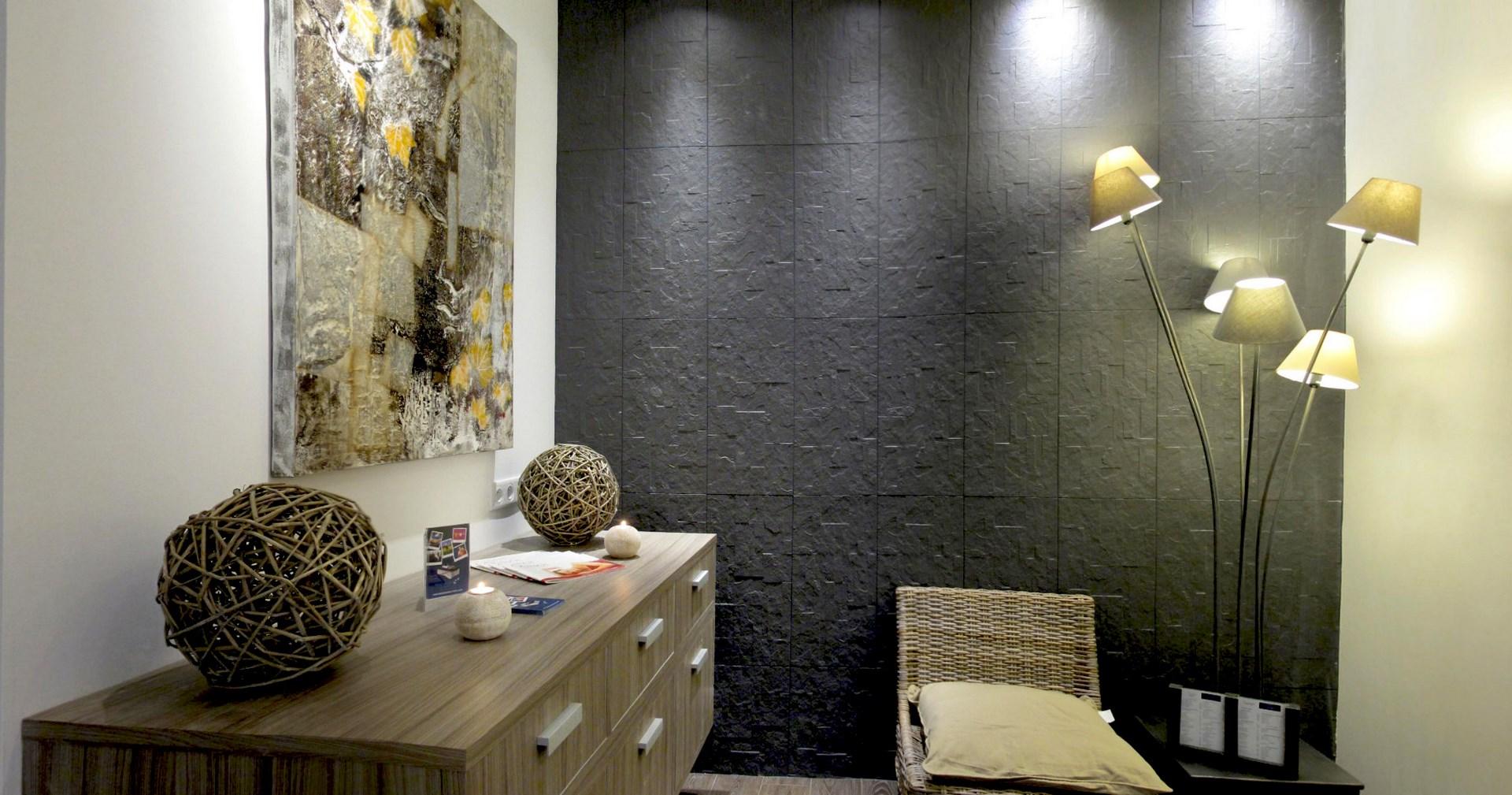 concept salle d attente parement pierre noir agence avous