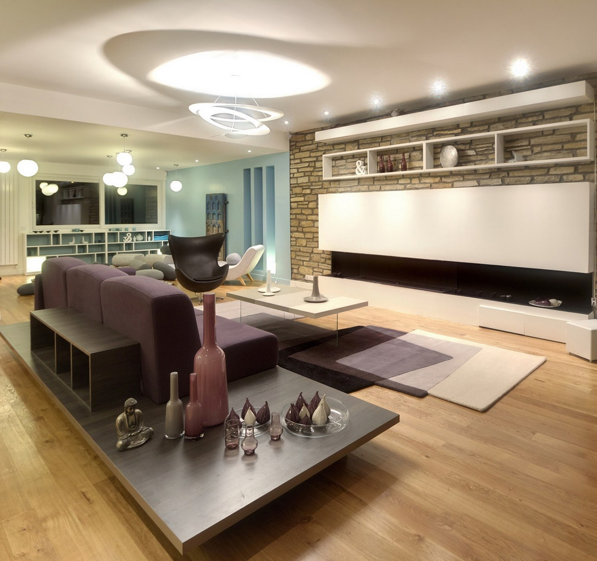 maison renovation luxe artemide pirce canape sur mesure cheminee gaz tapis intersection ligne roset agence avous