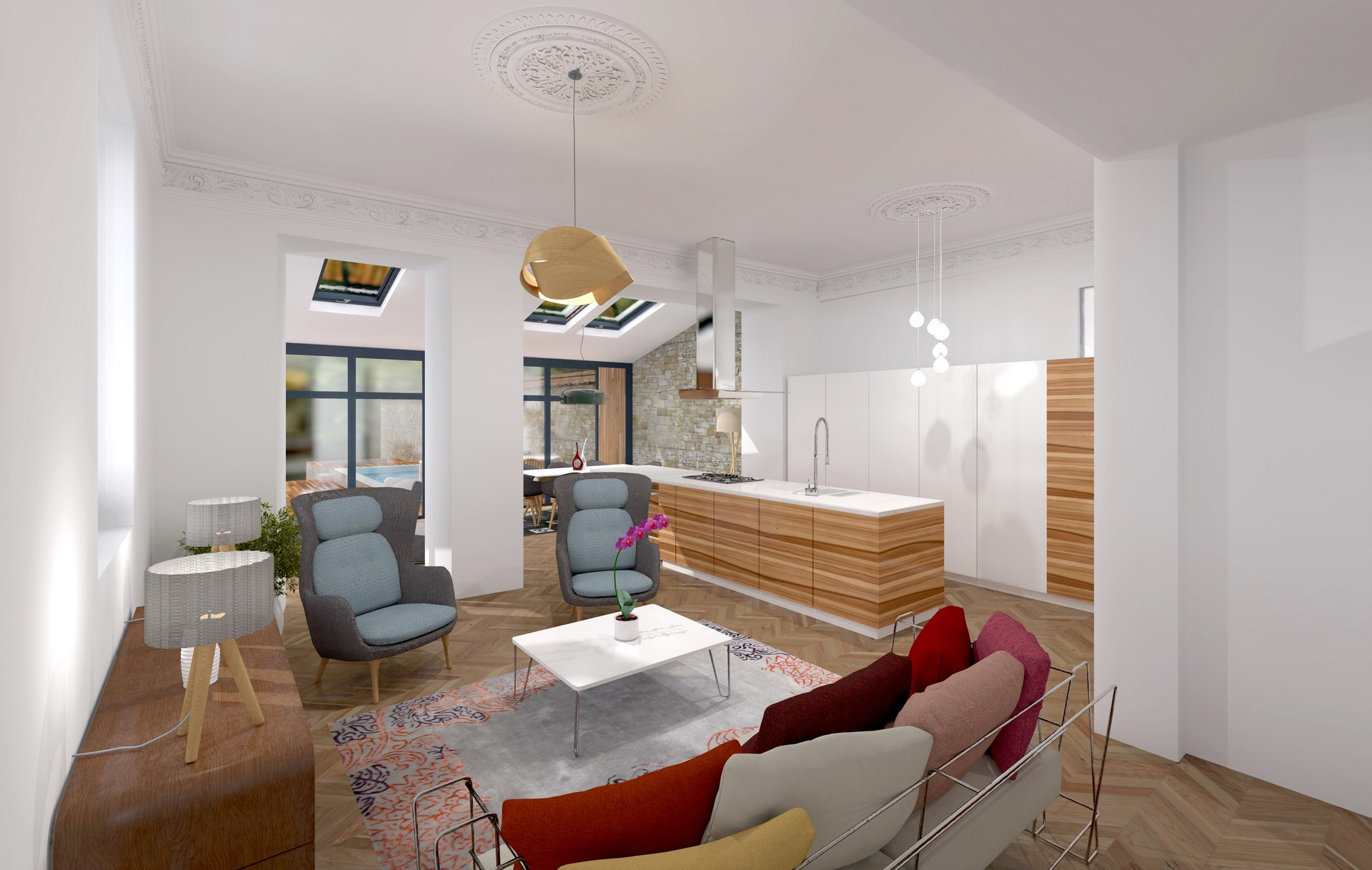 salon sur cuisine amenagement renovation luxe agence avous