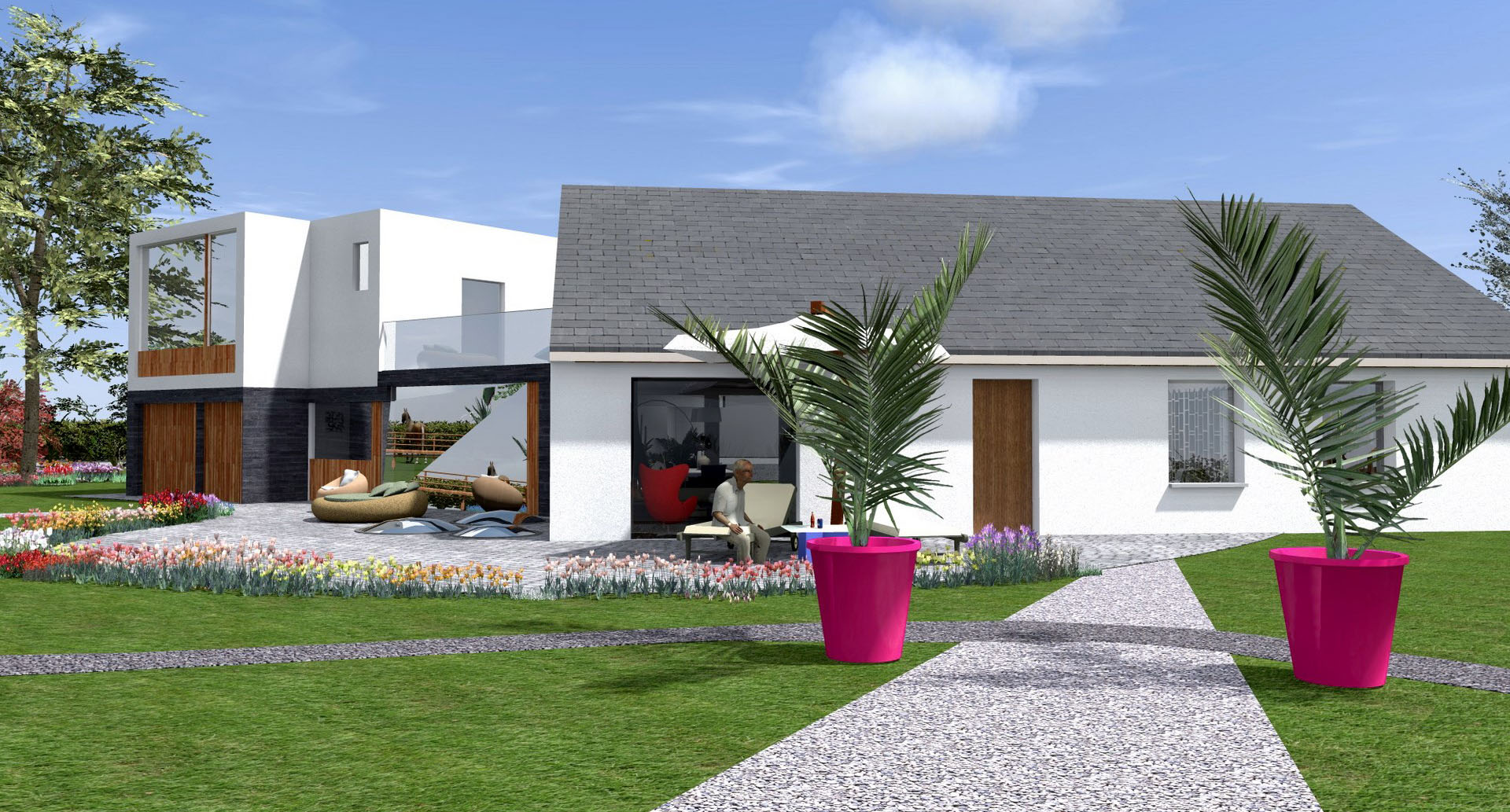 extension maison amenagement pasager jardin agence avous