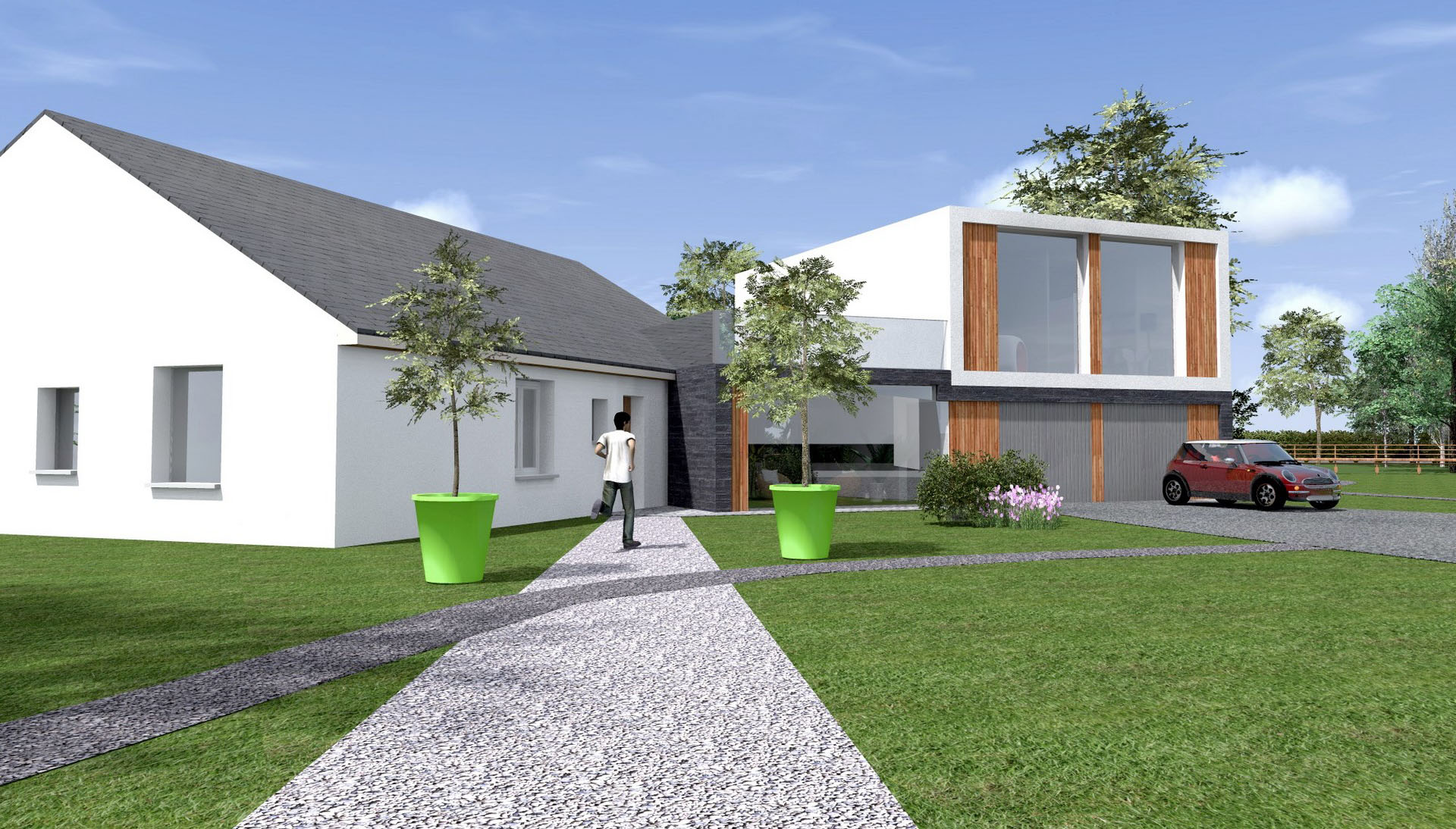 extension maison contemporaine agence avous
